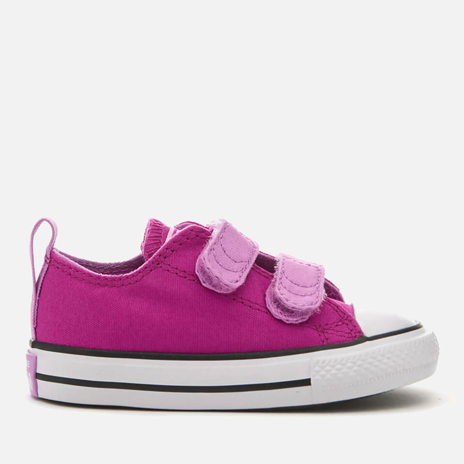 d9bc2728ddd066 Converse Toddlers  Chuck Taylor All Star 2V Ox Trainers - Magenta Glow Fuchsia  Glow White Junior Clothing