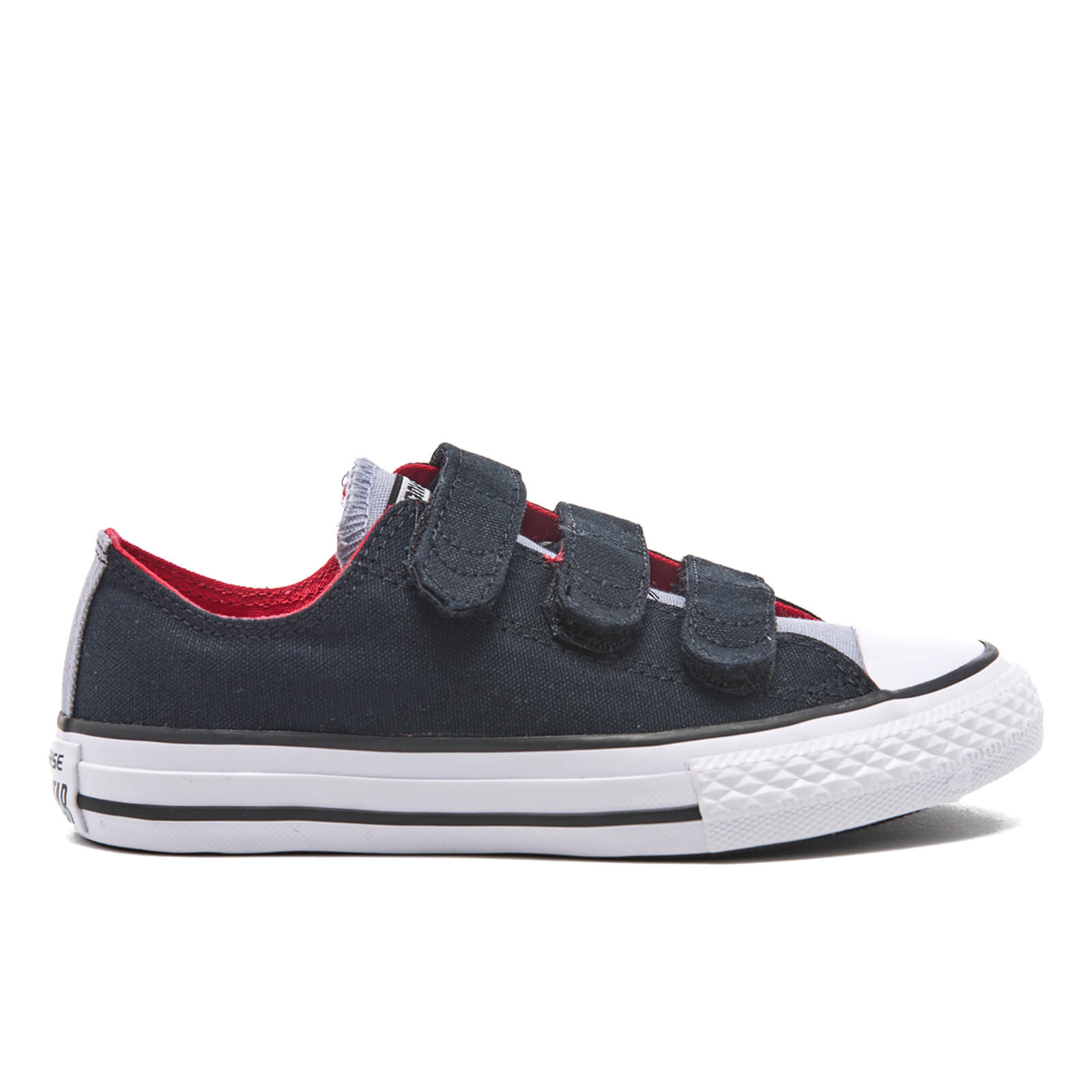 a00e026695fe Converse Kids  Chuck Taylor All Star II 3V Ox Trainers - Black Blue  Granite White Junior Clothing