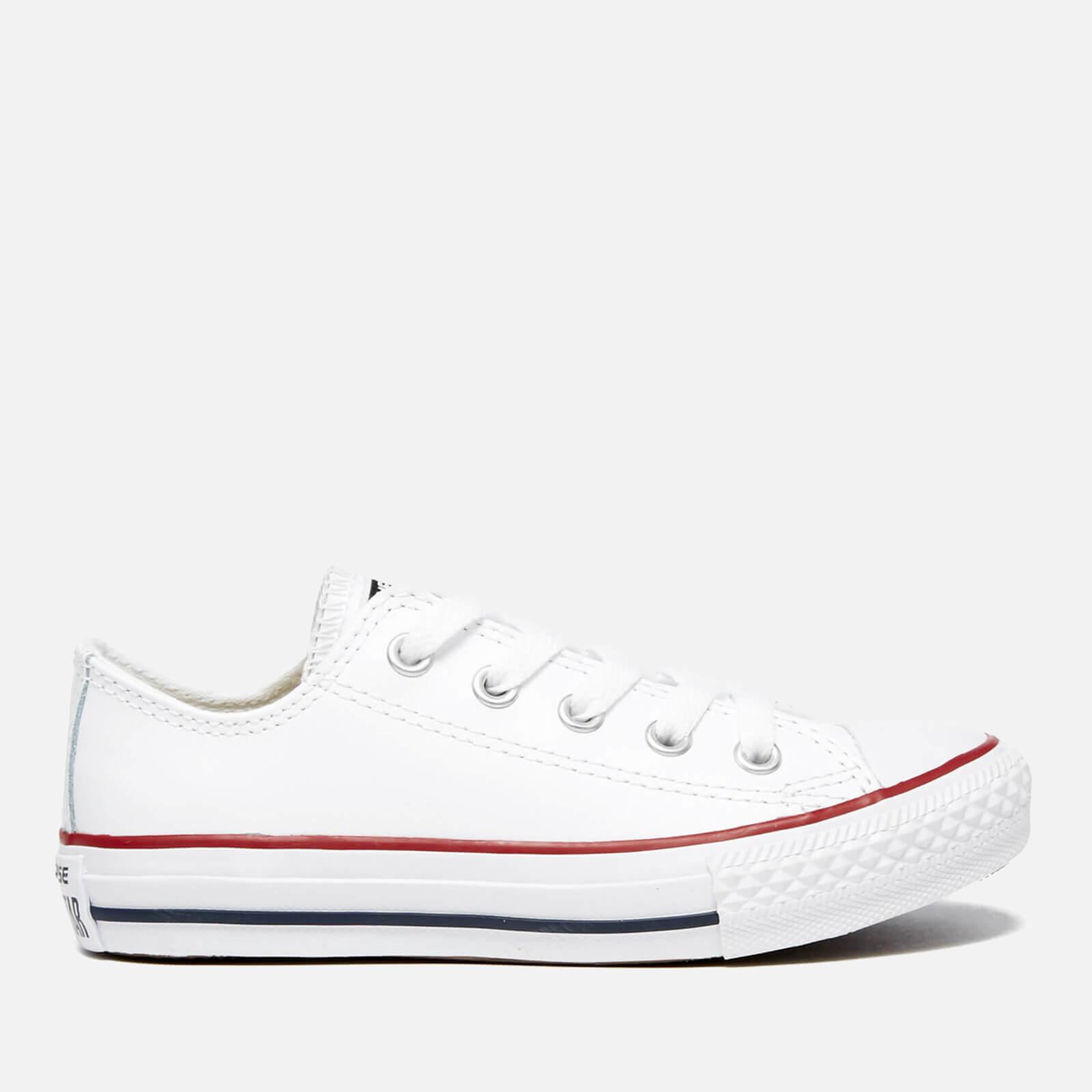 649de7fac7 Converse Kids' Chuck Taylor All Star Ox Trainers - White/Garnet/Navy ...