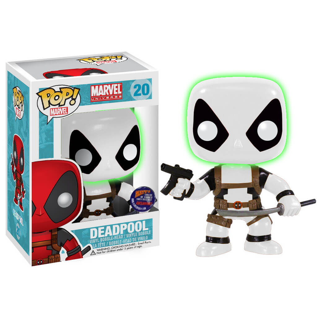 Funko Deadpool B&W Glow Head Error (Matt