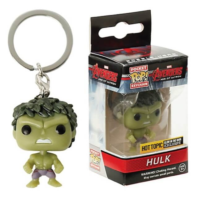 Funko Hulk Keychain (Glow In The Dark) Pop! Keychain