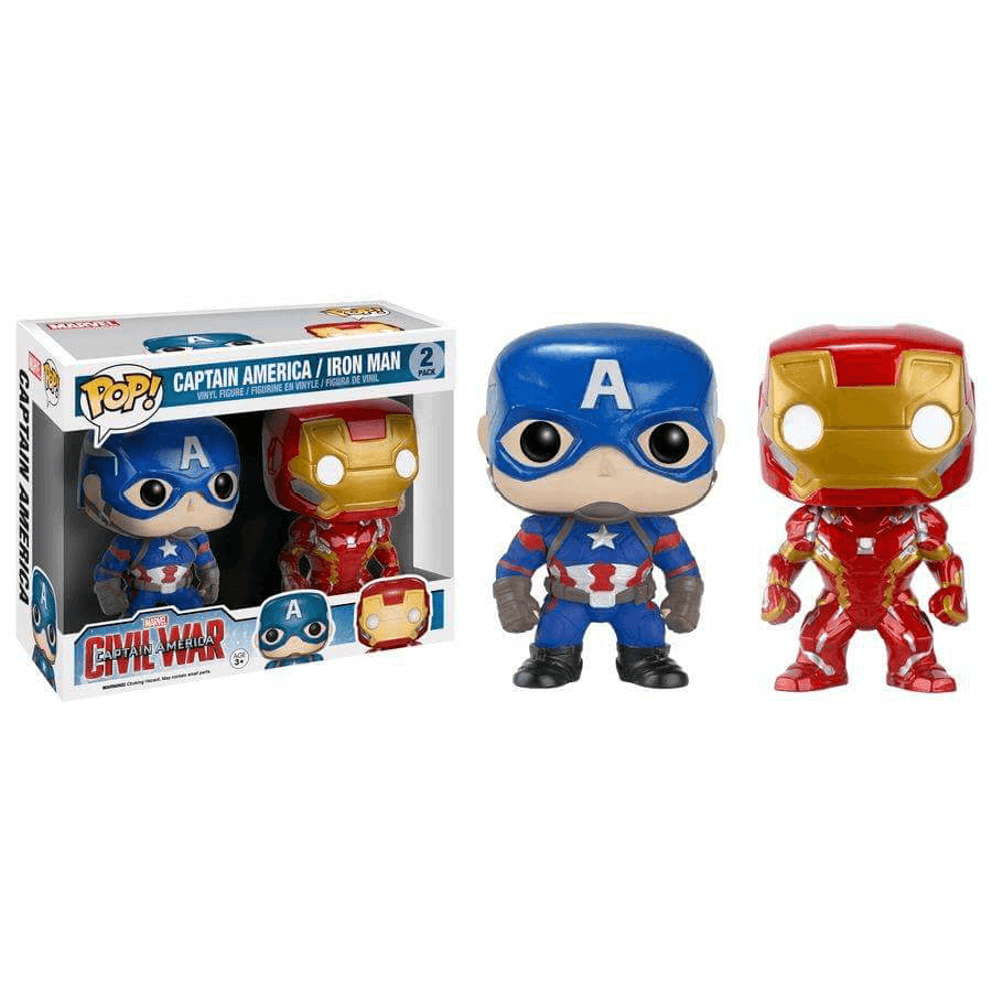 Funko Captain America Iron Man Double Pack Pop Vinyl