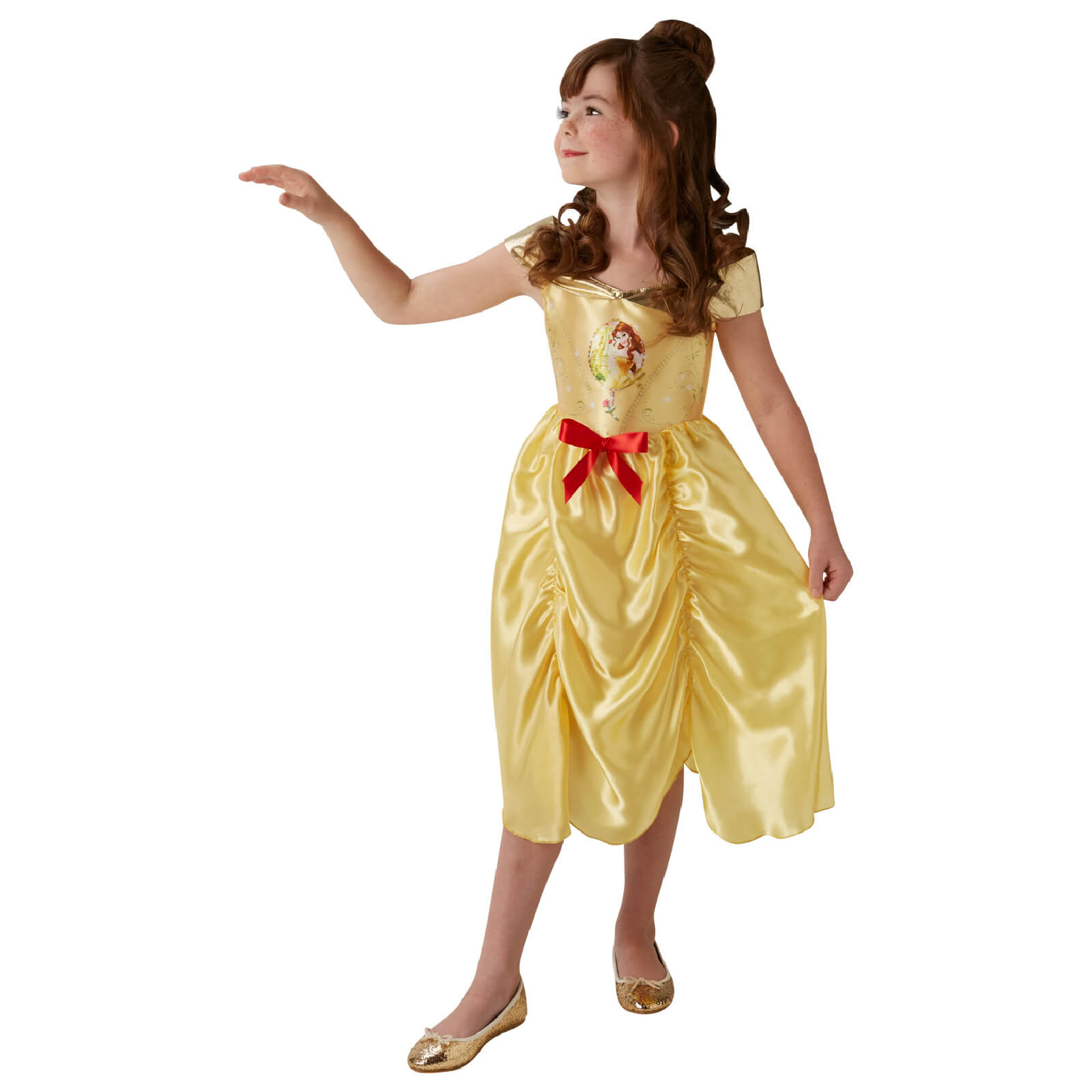 d20630fc796 Disney Girls' Beauty and the Beast Belle Fancy Dress Costume