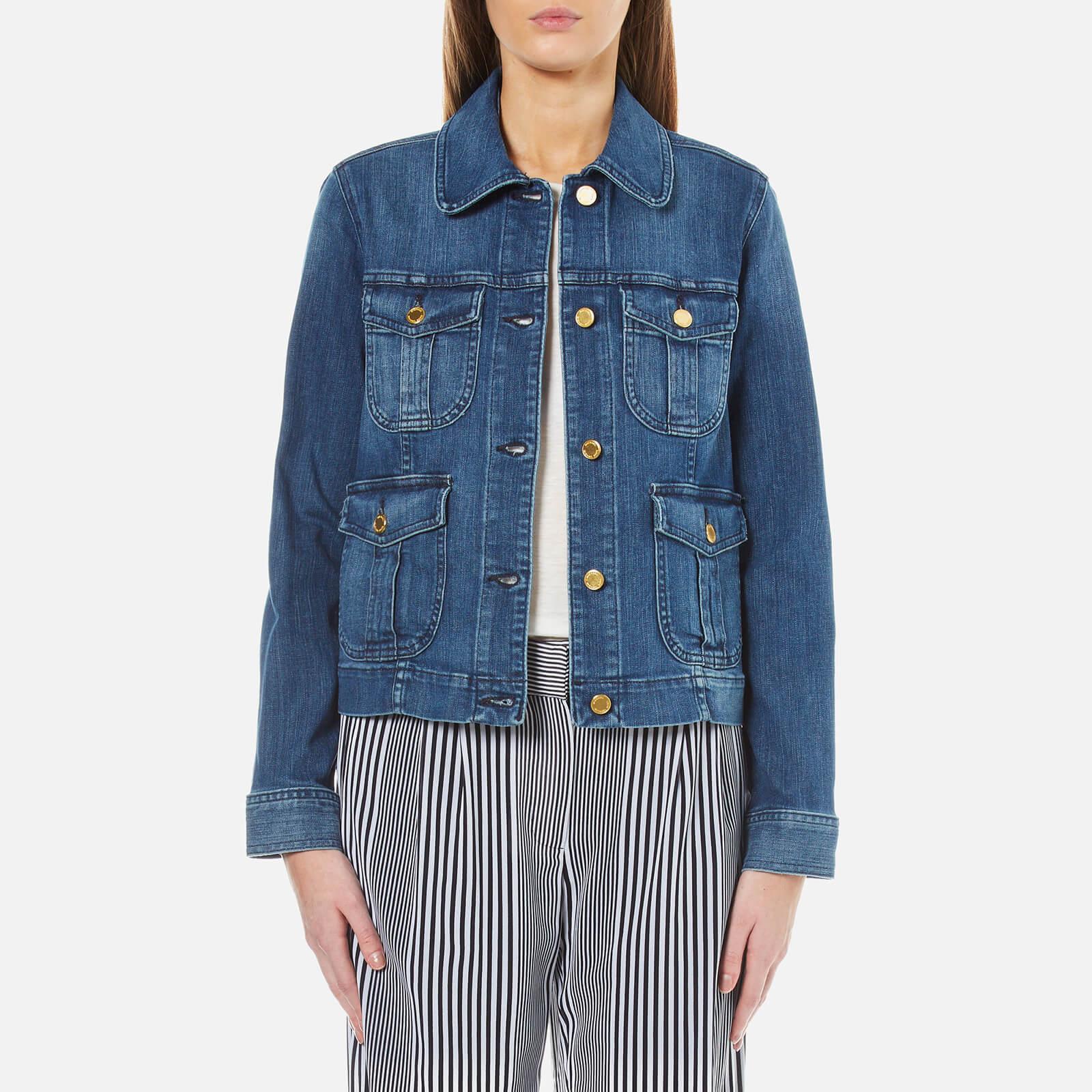 115ab271dc MICHAEL MICHAEL KORS Women s Cargo Pocket Jacket - Vintage Blue Wash ...