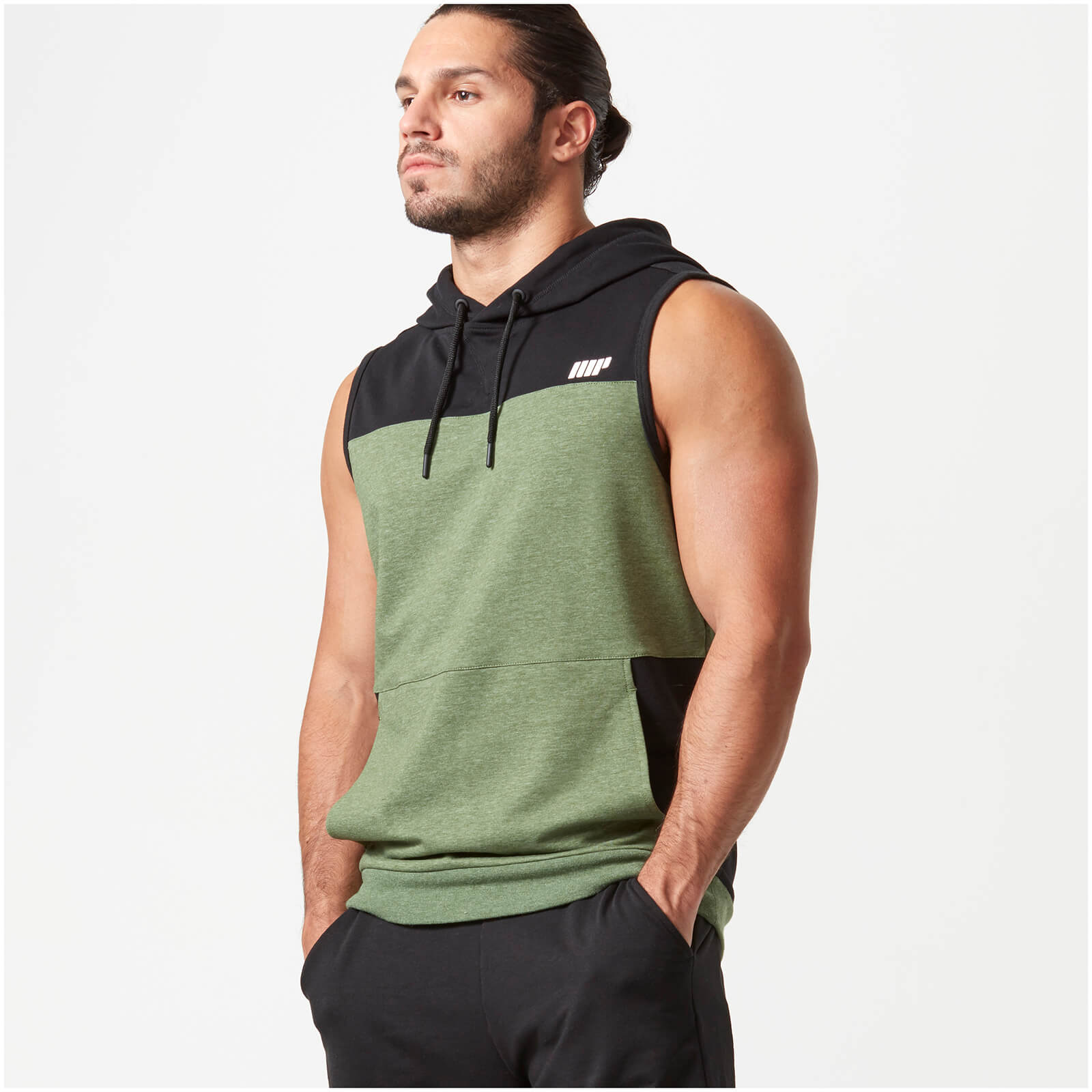 Myprotein Superlite Sleeveless Zip-Up Hoodie - Khaki - XL