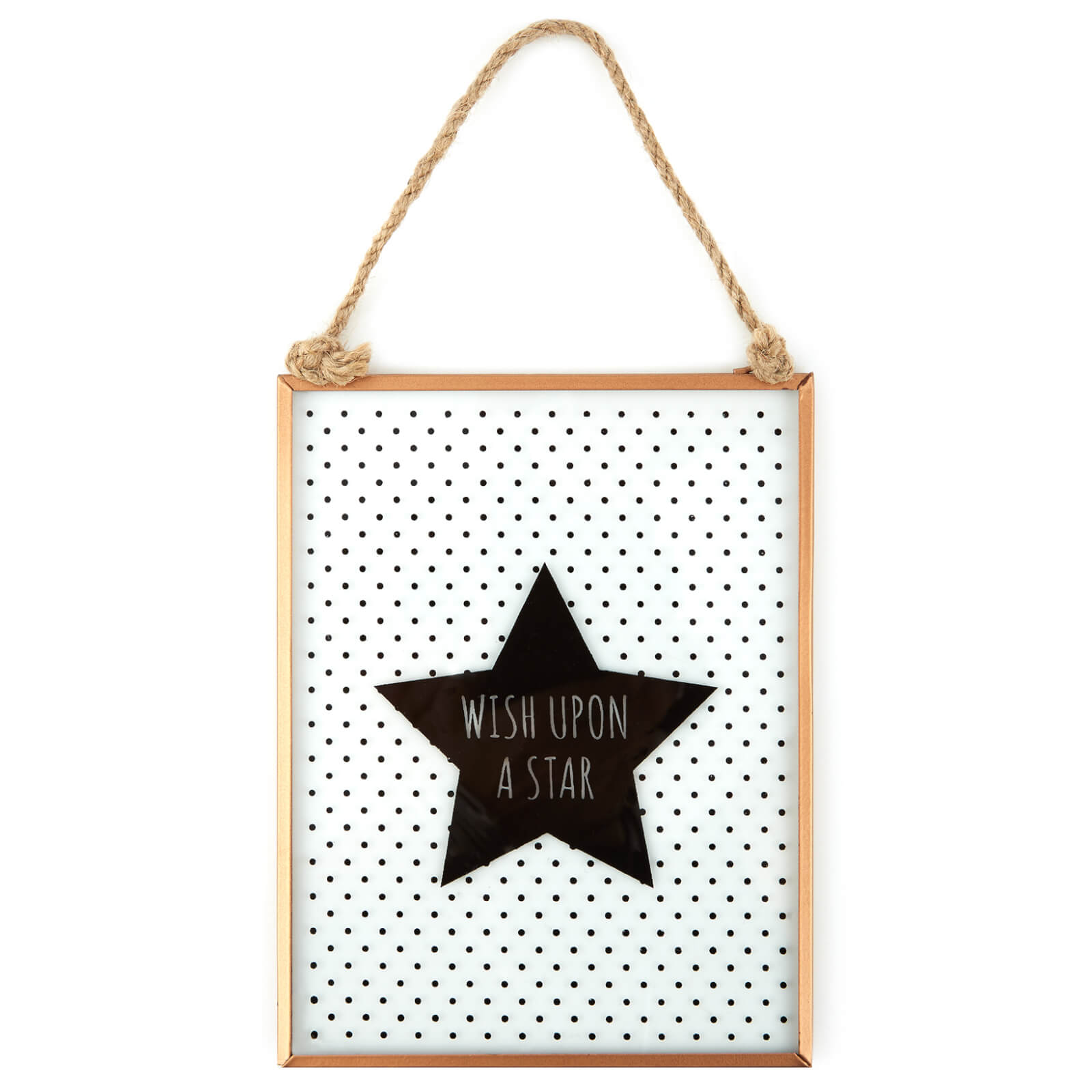 Slogan Glass Plaque - Wish Upon a Star