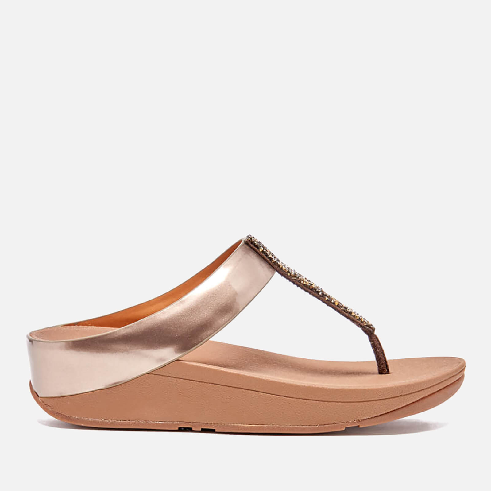 f54bbdc91 FitFlop Women s Fino Toe-Post Sandals - Bronze Womens Accessories ...