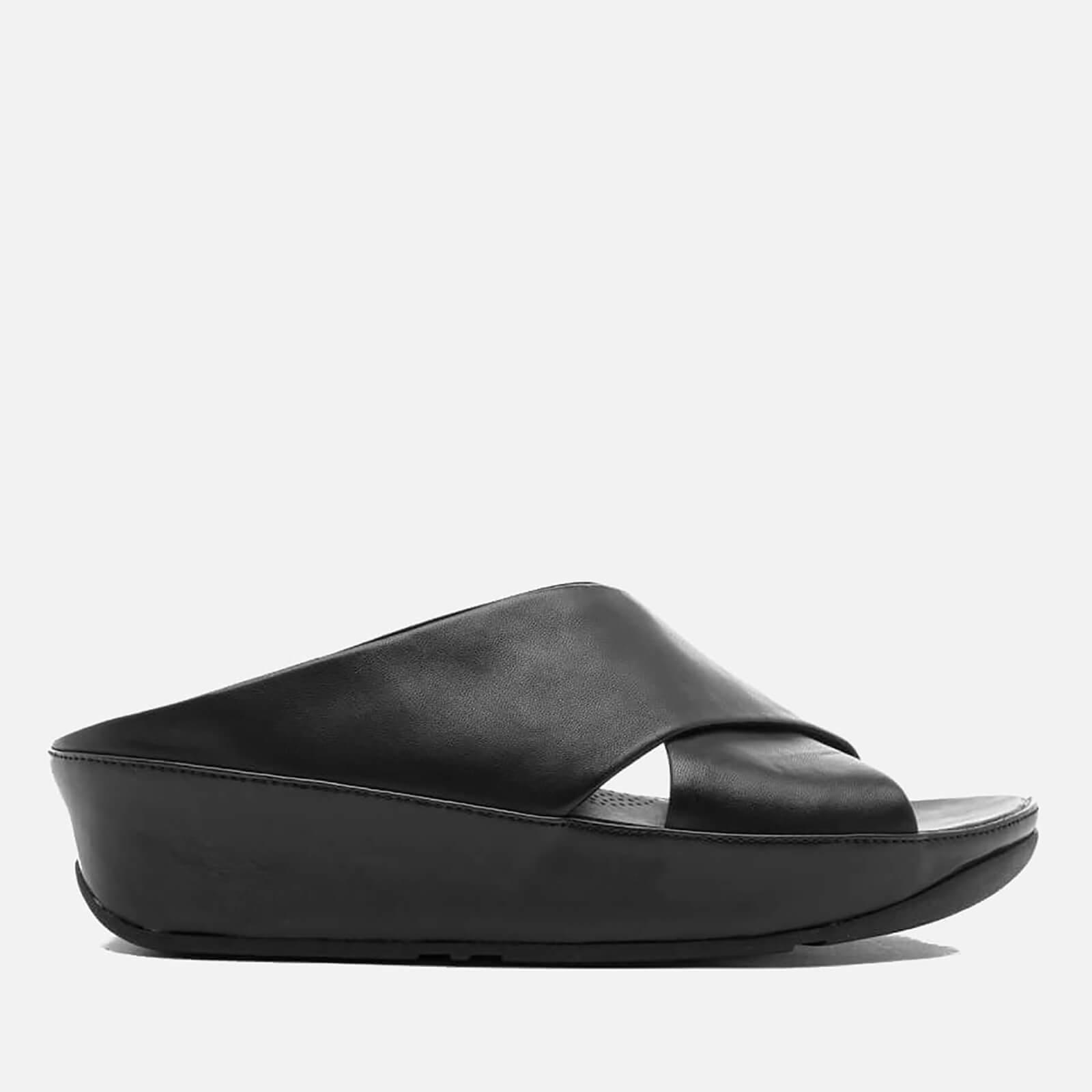 7de9cf7c6b8f FitFlop Women s Kys Leather Slide Sandals - All Black Womens Accessories