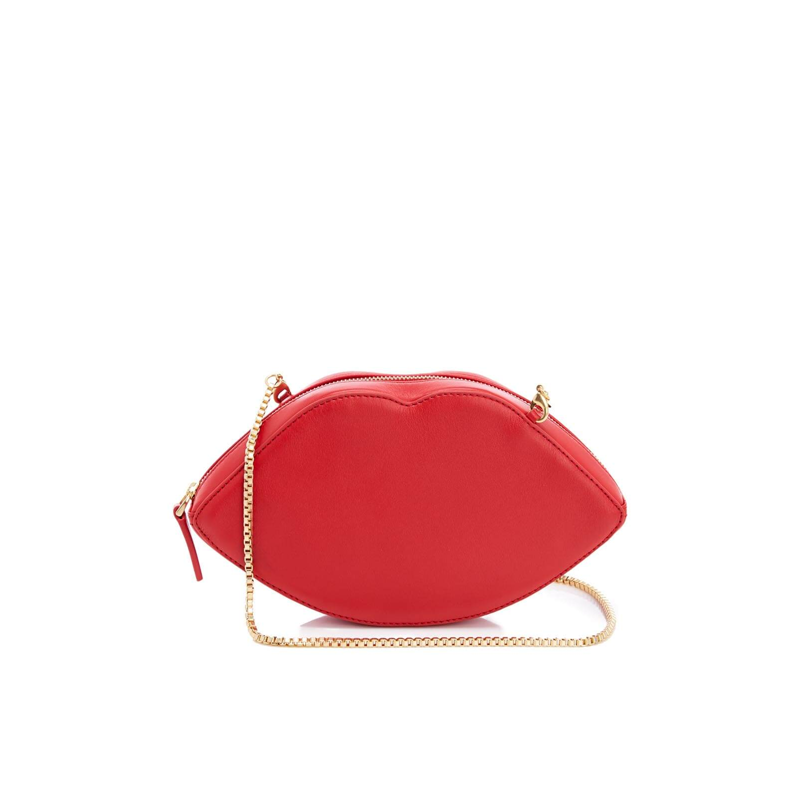 bf7bf366d Lulu Guinness Women's Smooth Leather Lips Cross Body Bag - Classic Red -  Free UK Delivery over £50