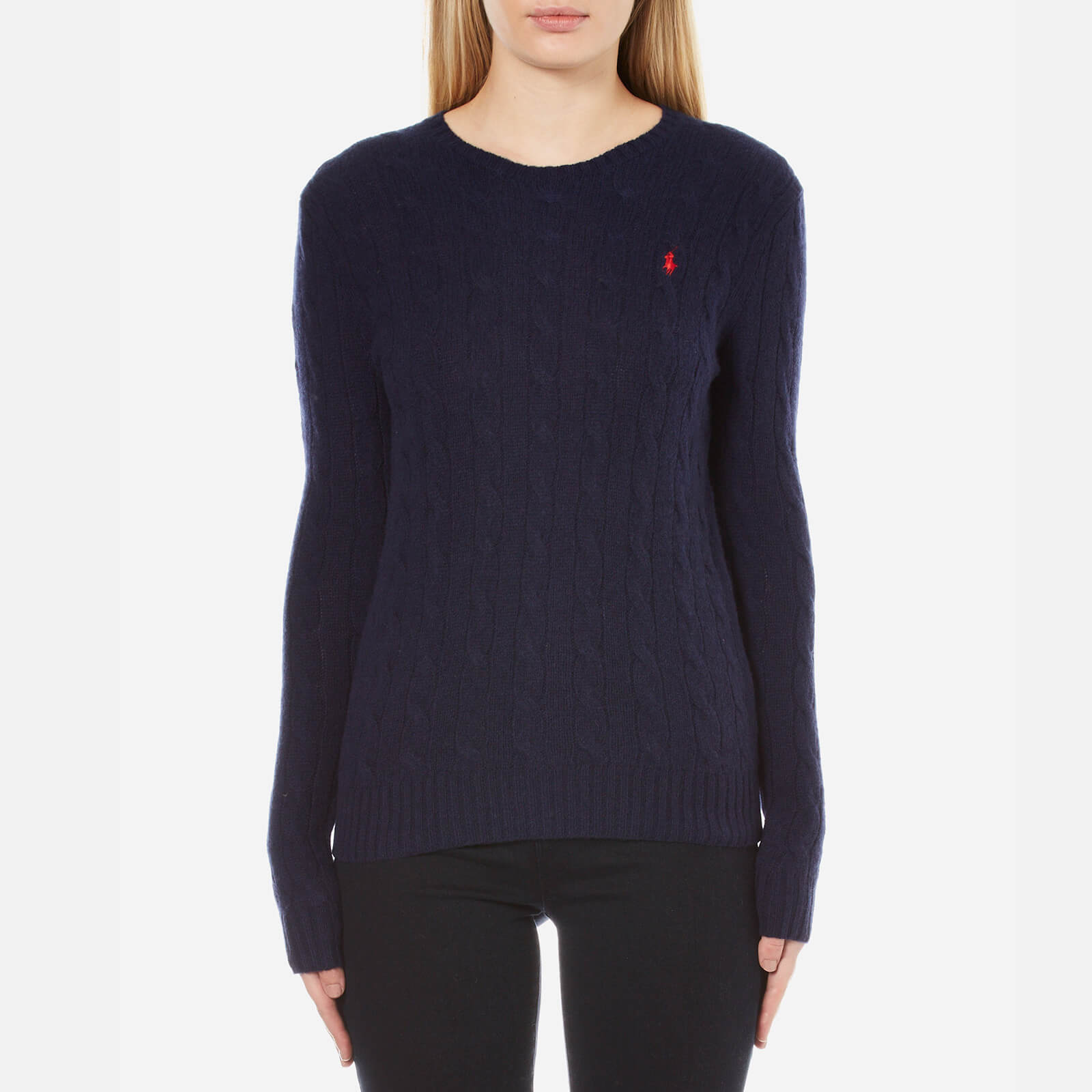 979a364628ae Polo Ralph Lauren Women's Julianna Crew Neck Jumper Cashmere Blend - Hunter  Navy - Free UK Delivery over £50