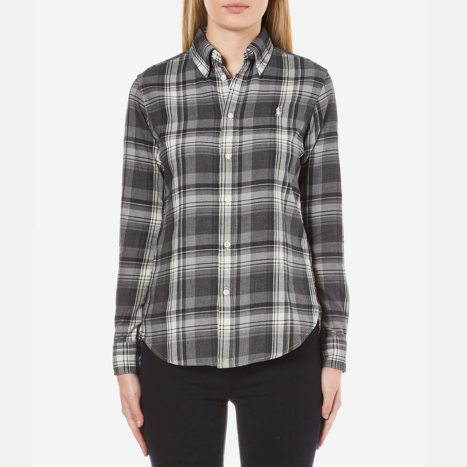 Brushed Shirt Ralph Women's Greyblack Polo Lauren Georgia Plaid 3L4A5Rj