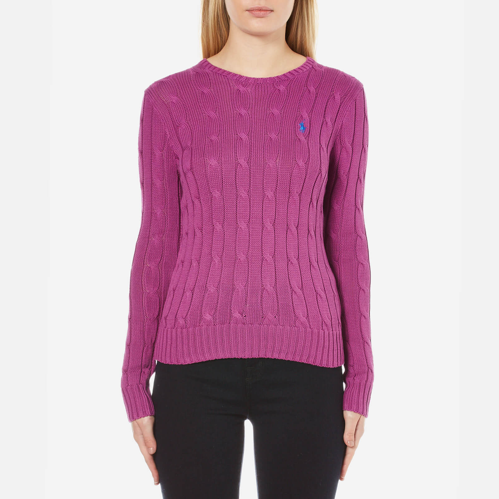 5cbe3f5b9658a6 Polo Ralph Lauren Women's Julianna Crew Neck Jumper - Hyannis Purple - Free  UK Delivery over £50