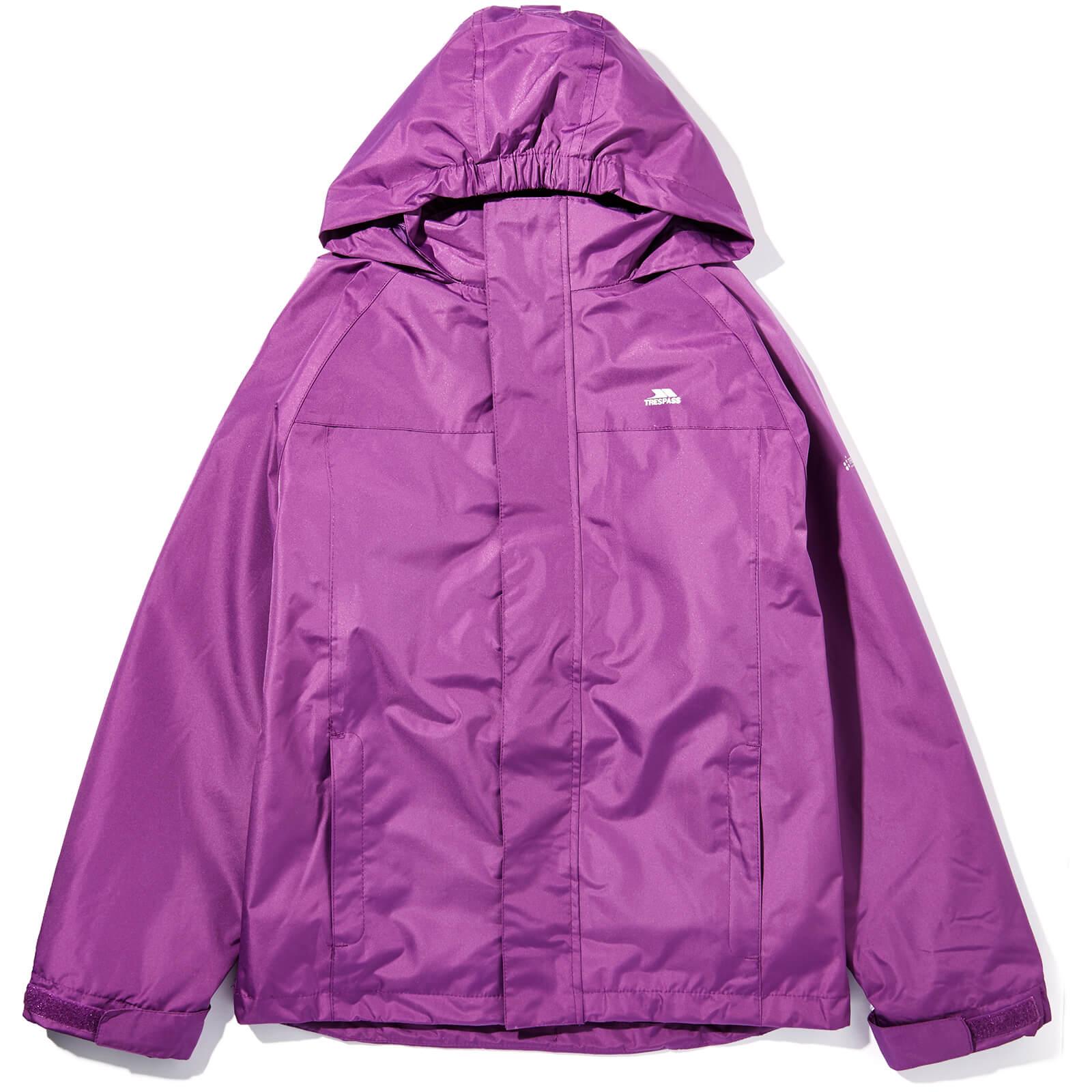 world-wide selection of hot-selling cheap online sale Trespass Girls' Skydive Waterproof 3-in-1 Jacket - Damson
