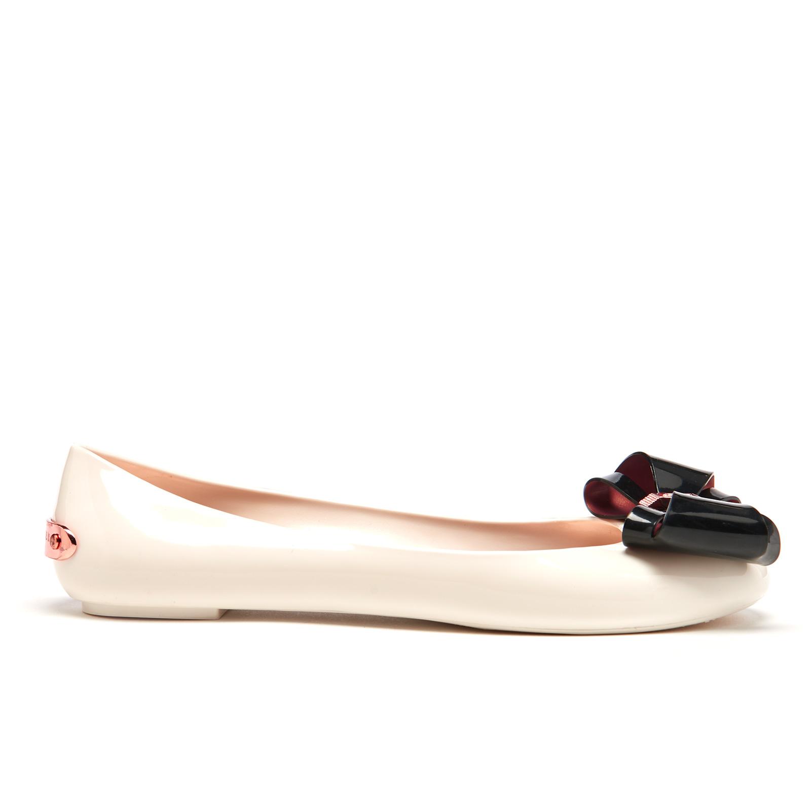 07452d50a Ted Baker Women's Julivia Bow Front Ballet Pumps - Cream/Black   FREE UK  Delivery   Allsole