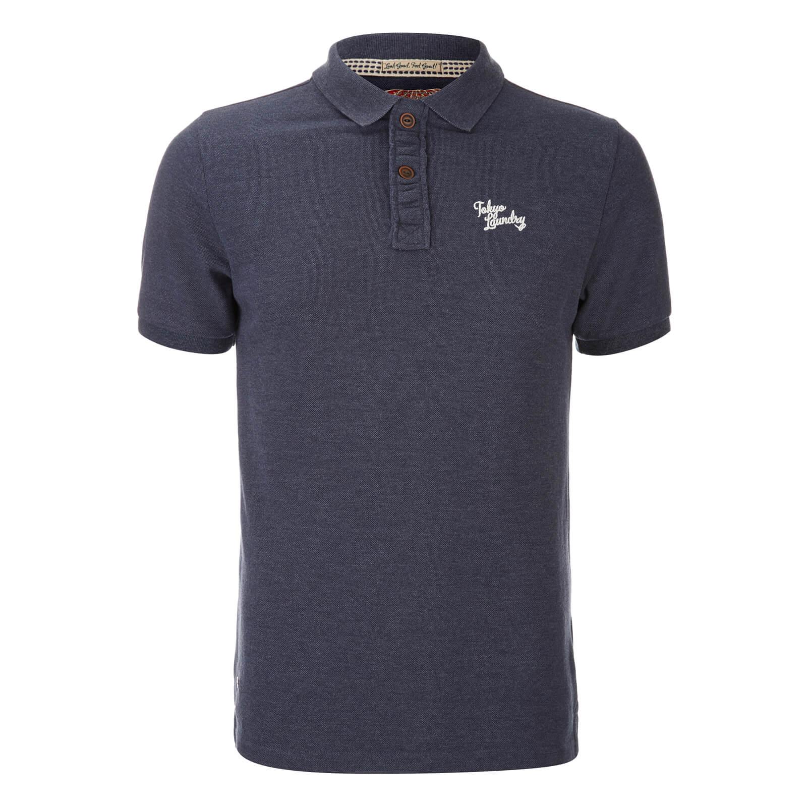 Tokyo Laundry Mens Penn State Polo Shirt Mood Indigo Marl