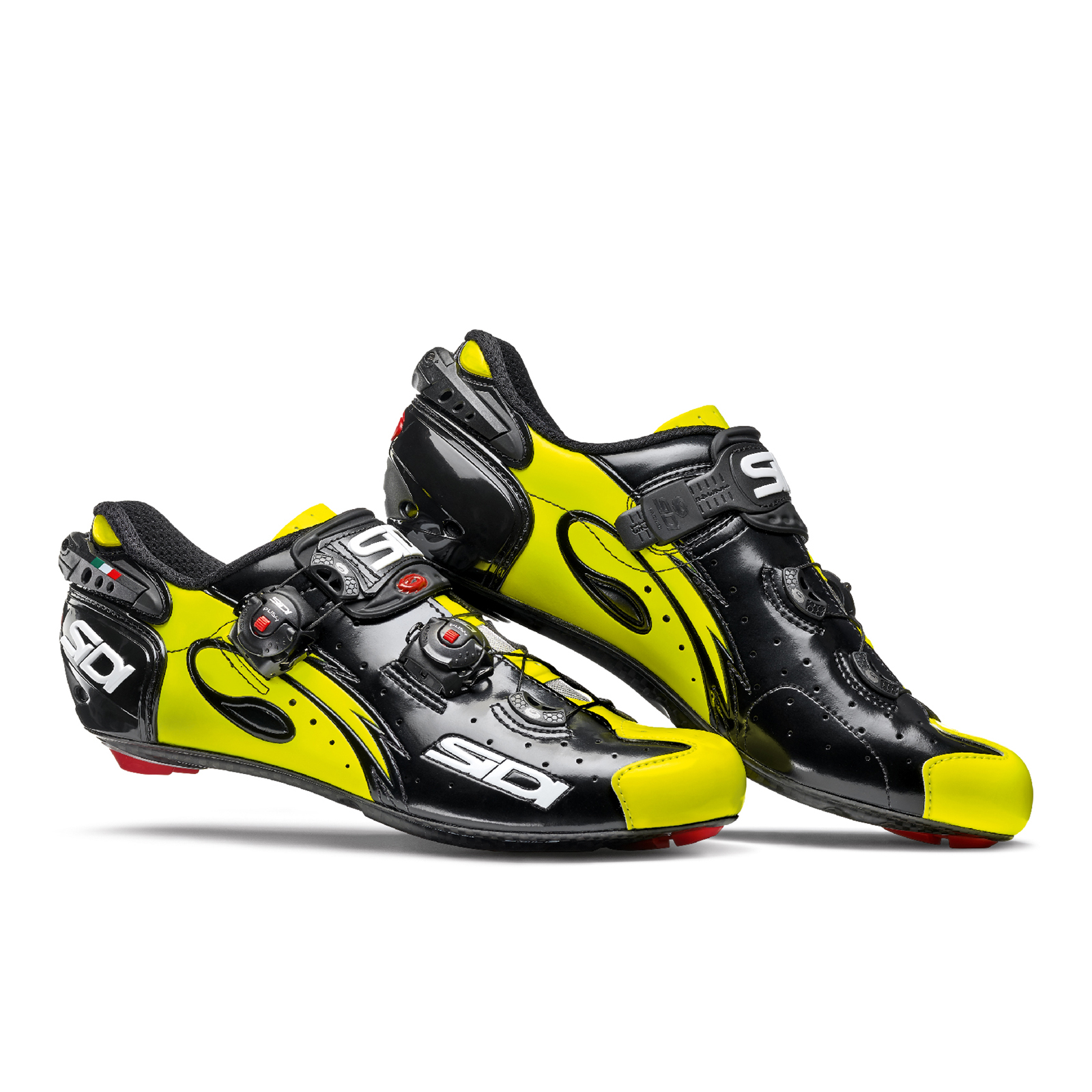 Sidi Wire Carbon Vernice Cycling Shoes - Black/Yellow Fluro