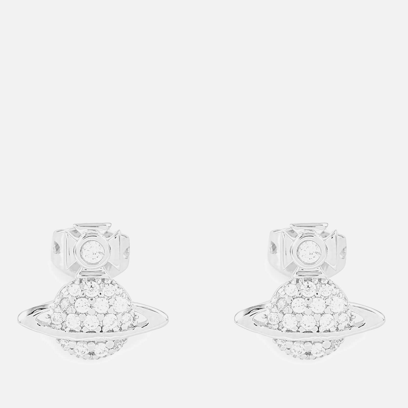 ef9a1e2893e Vivienne Westwood Women's Tamia Earrings - White Cubic Rhodium - Free UK  Delivery over £50