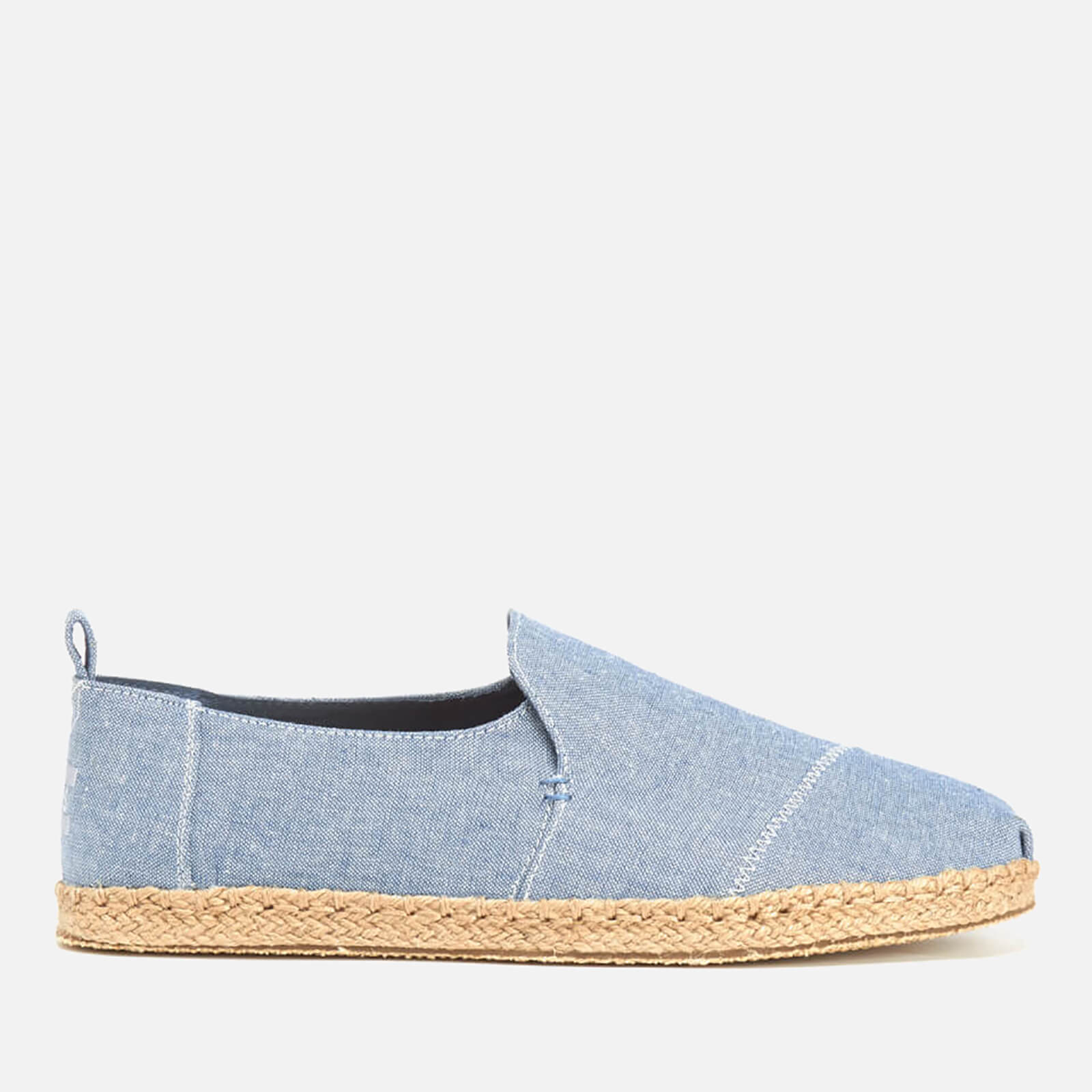 ef4c1169f40 TOMS Men s Deconstructed Alpargata Espadrille Slip-On Pumps - Cornflower  Blue Slub Chambray Mens Footwear