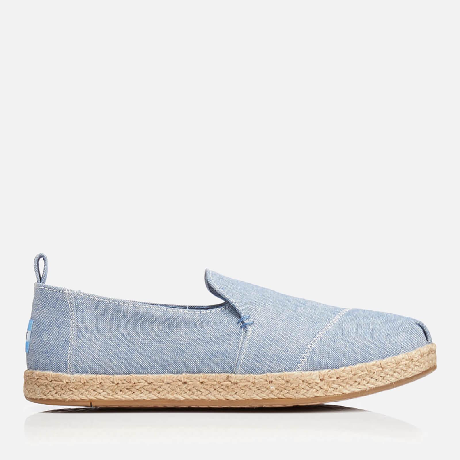 f51bb7ee5 TOMS Women's Deconstructed Alpargata Chambray Espadrilles - Blue Womens  Footwear | TheHut.com