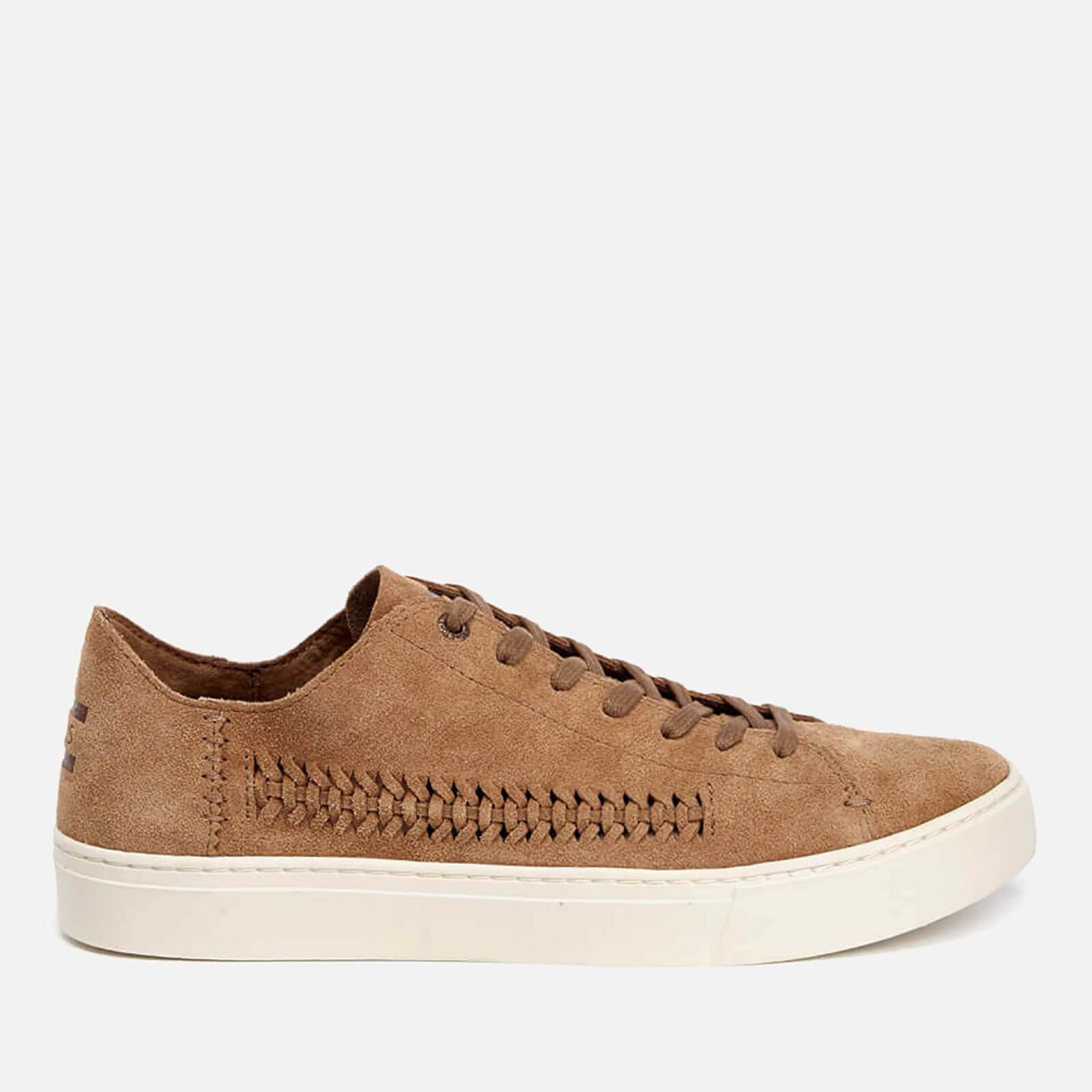 64277f52b91b TOMS Men s Lenox Woven Panel Suede Trainers - Toffee Suede Woven Panel Mens  Footwear