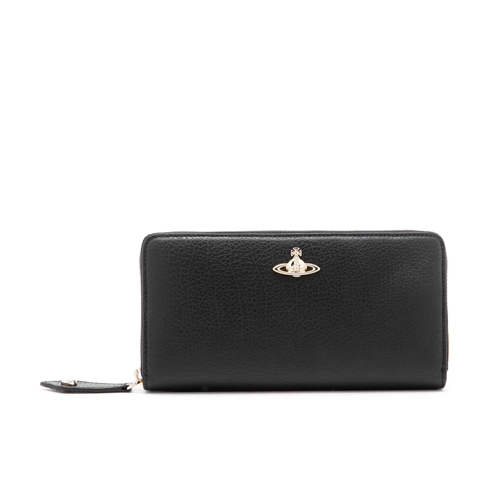 da3f3c9cd6 Vivienne Westwood Women's Balmoral Grain Leather Zip Around Wallet - Black  - Free UK Delivery over £50