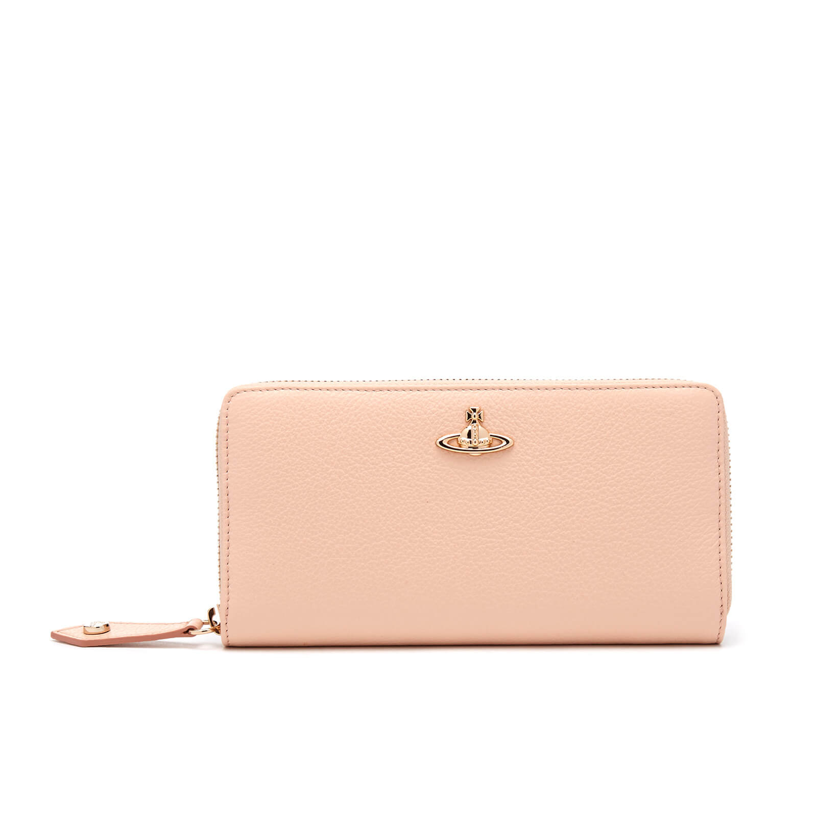 c999d092d3 Vivienne Westwood Women's Balmoral Grain Leather Zip Around Wallet - Pink -  Free UK Delivery over £50