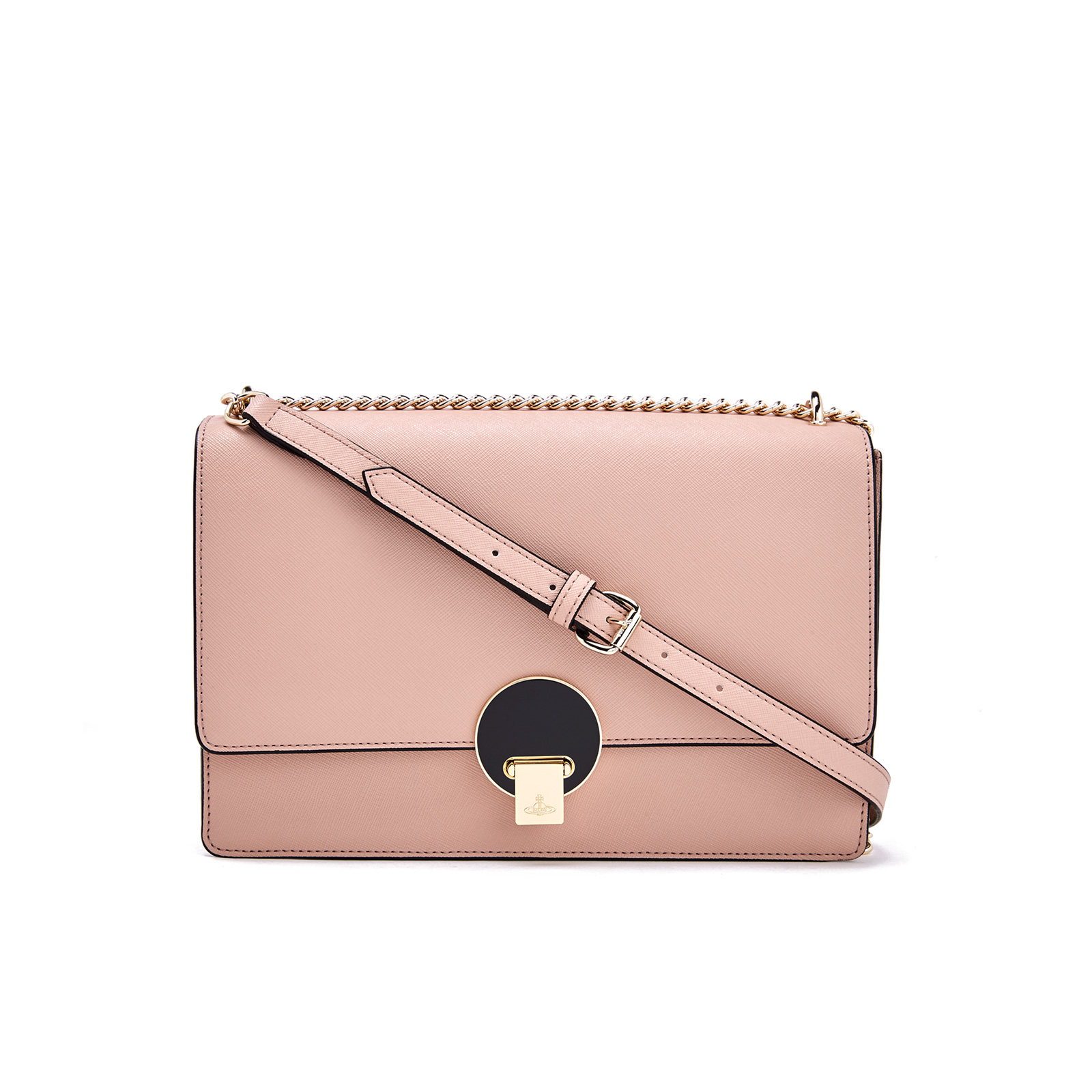 959eef9ab119 Vivienne Westwood Women s Opio Saffiano Leather Large Fold Over Shoulder Bag  - Pink - Free UK Delivery over £50