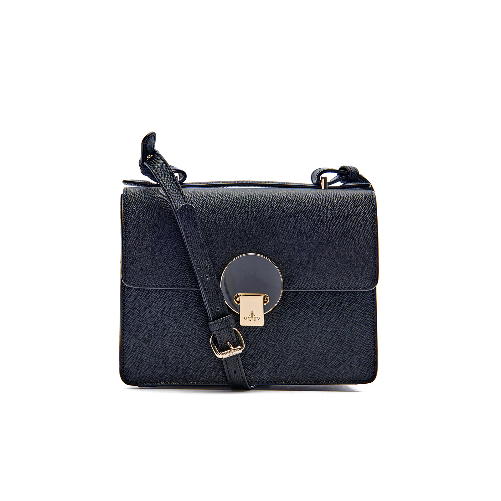 03e84bedc12f Vivienne Westwood Women s Opio Saffiano Leather Small Shoulder Bag - Black  - Free UK Delivery over £50