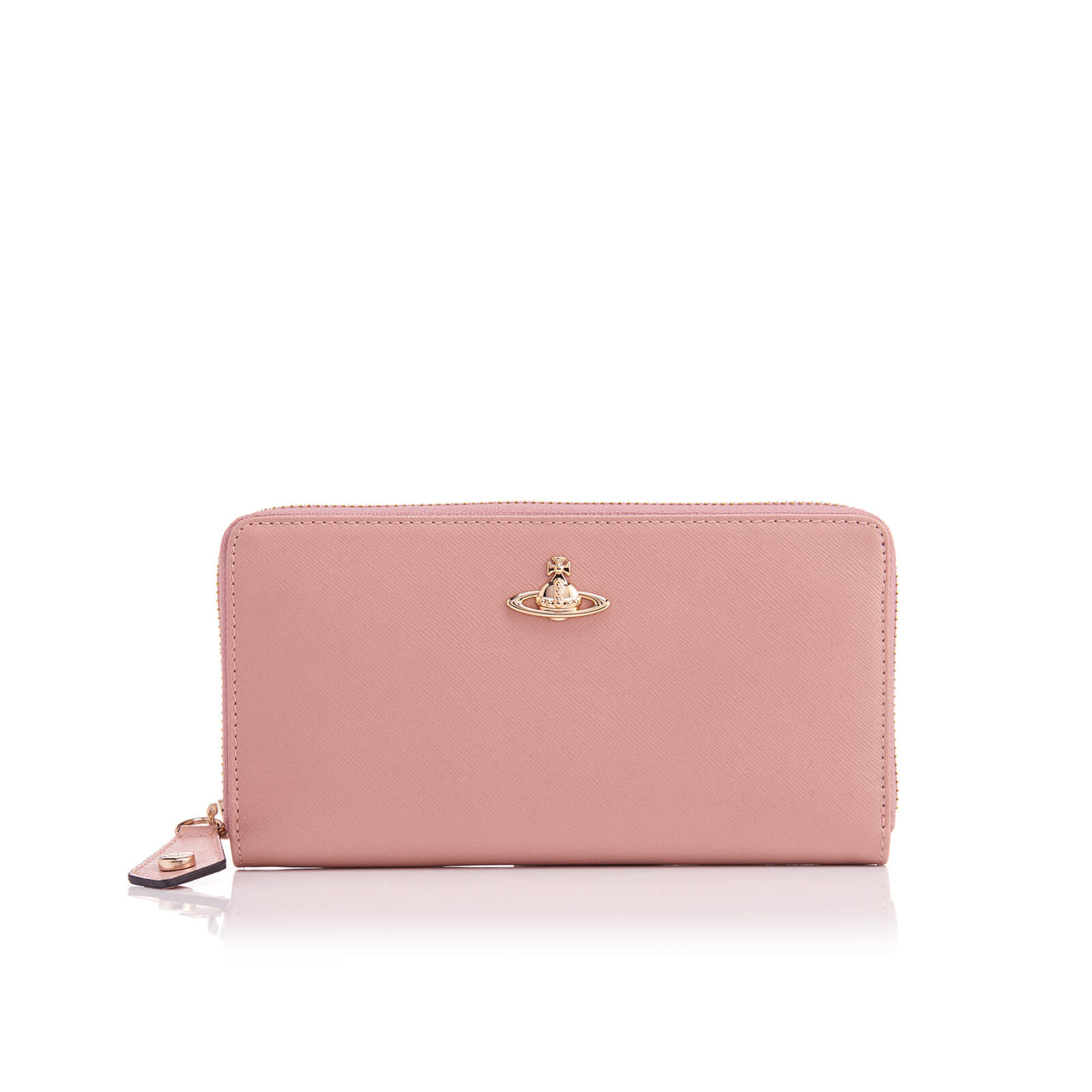13f2399265d Vivienne Westwood Women's Opio Saffiano Leather Zip Around Wallet - Pink -  Free UK Delivery over £50