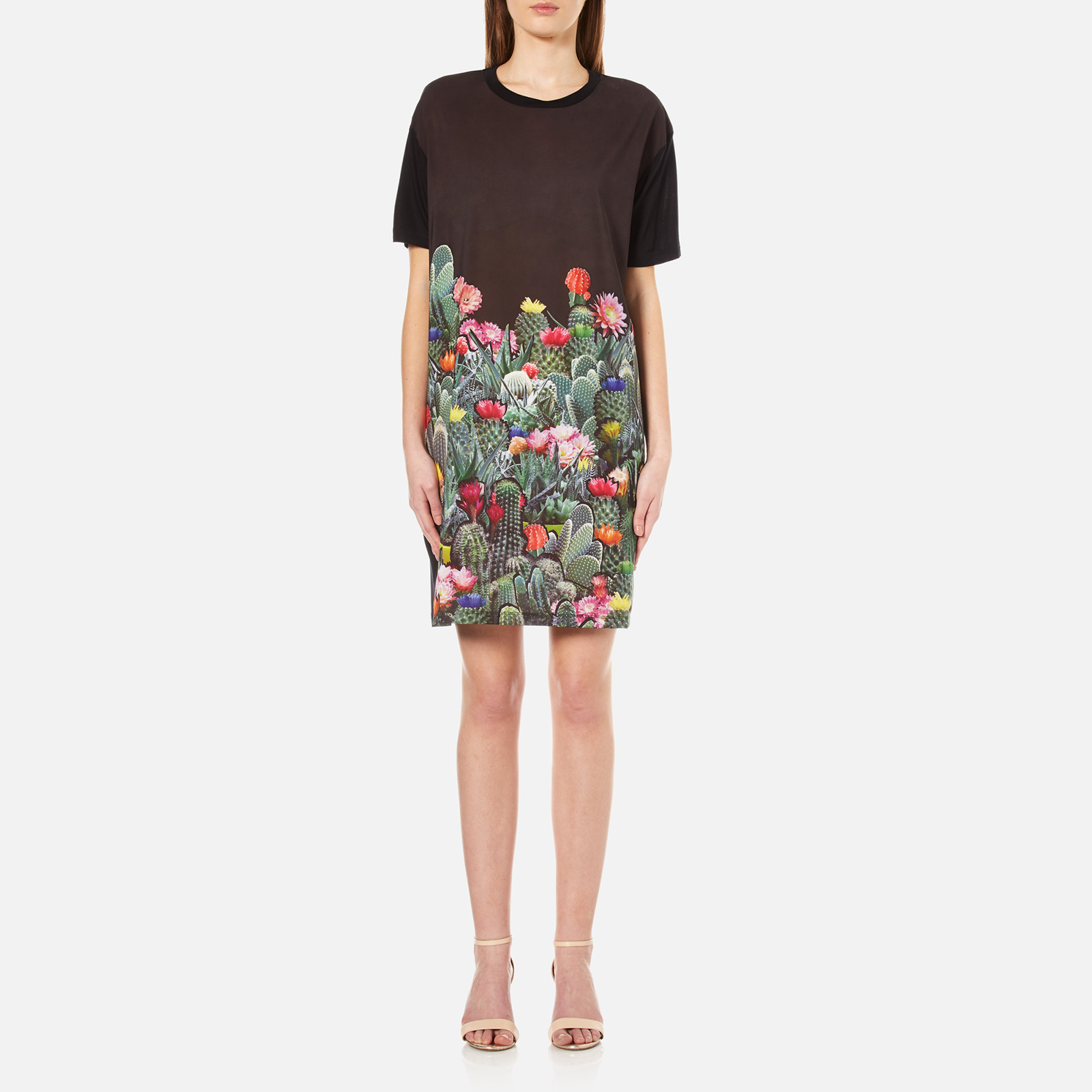 PS by Paul Smith Women s Cactus T-Shirt Dress - Black - Free UK Delivery  over £50 f06de9579