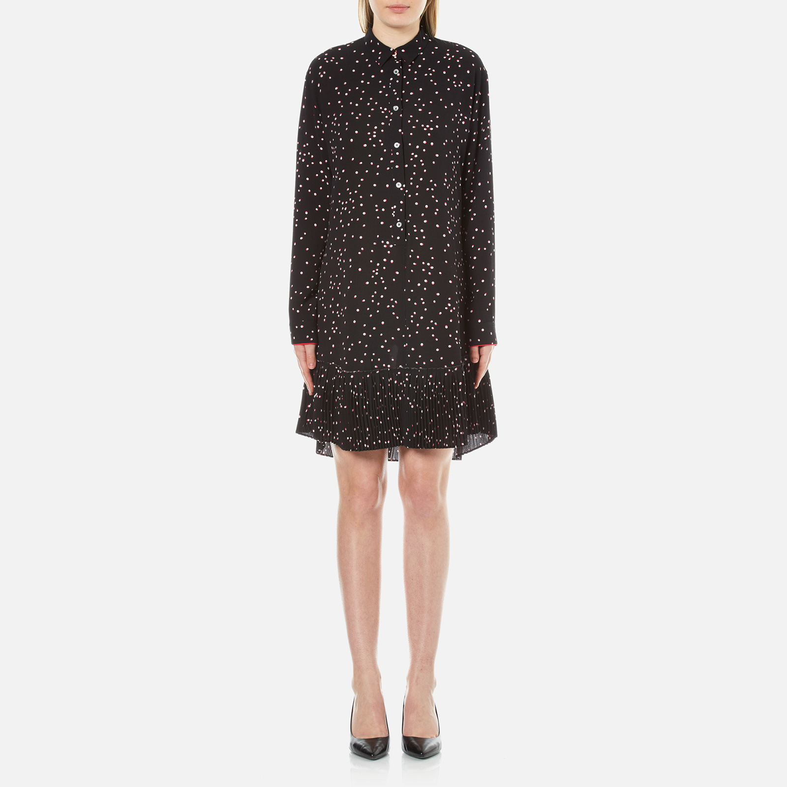 PS by Paul Smith Women s Small Spot Shirt Dress - Black - Free UK Delivery  over £50 e15267cfe