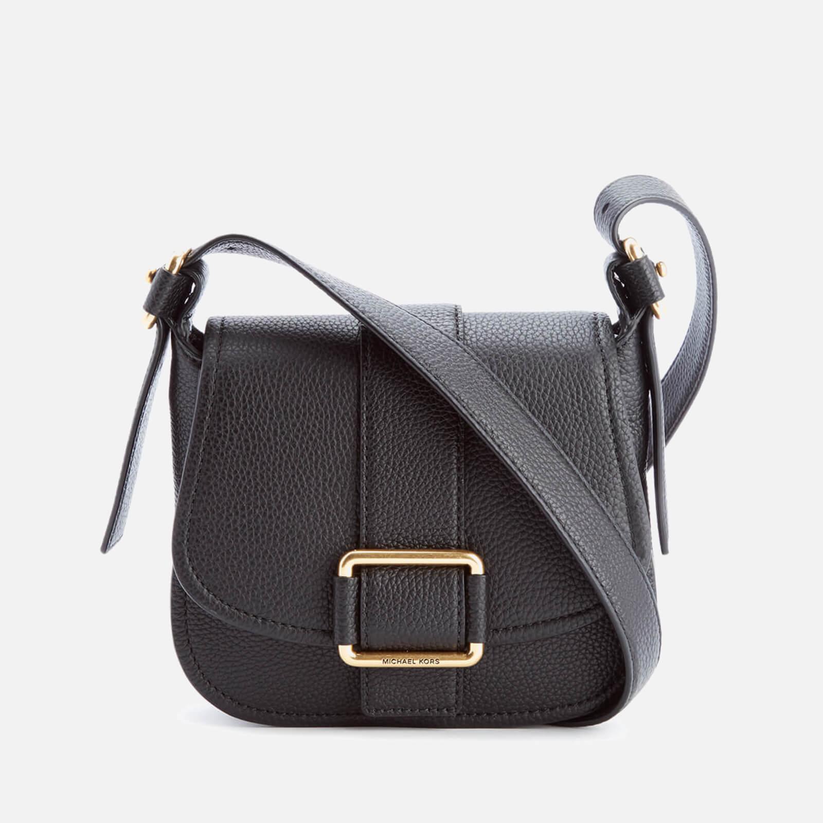 2d38a8e1 MICHAEL MICHAEL KORS Women's Maxine Mid Saddle Bag - Black - Free UK  Delivery over £50