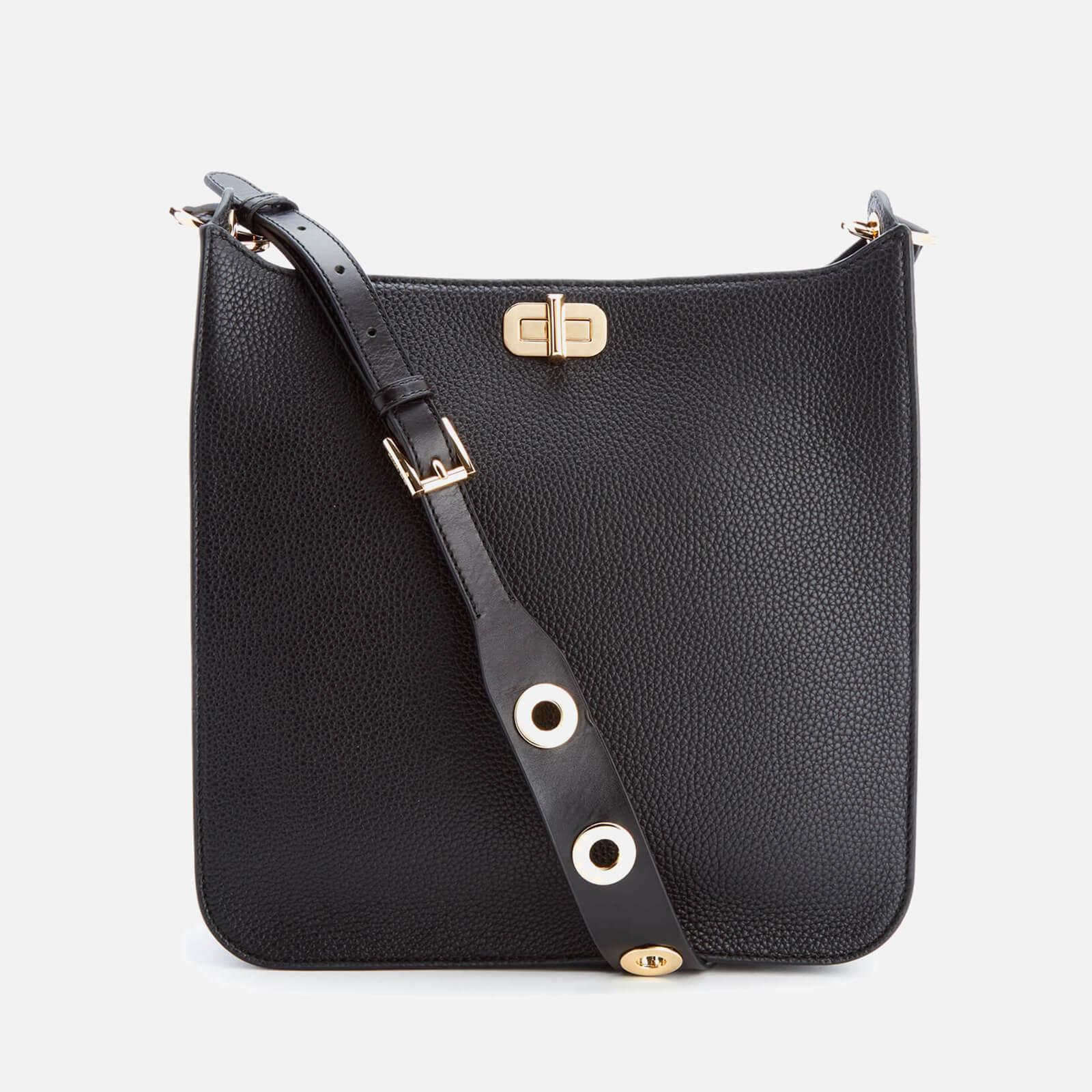 13aa6b5f3a4a ... MICHAEL MICHAEL KORS Women s Sullivan Large North South Messenger Bag -  Black