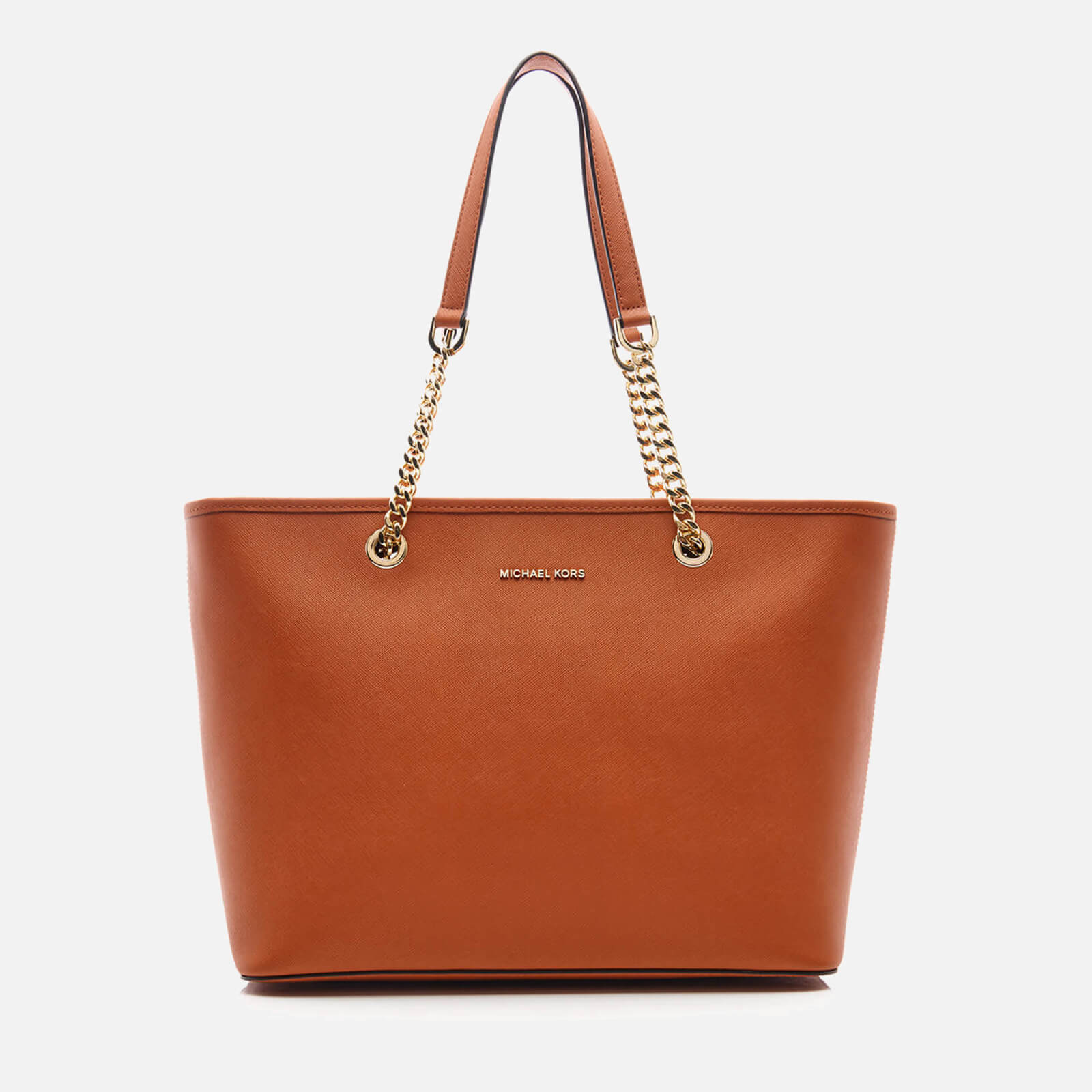 625f185e6a037b MICHAEL MICHAEL KORS Women's Jet Set Travel Chain Top Zip Tote Bag - Orange  - Free UK Delivery over £50