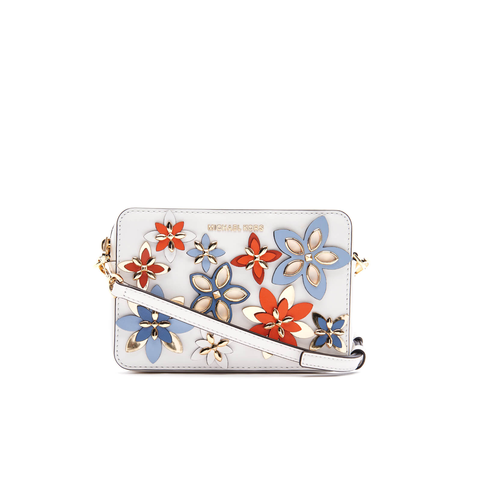 f624afdcab5d ... MICHAEL MICHAEL KORS Women s Flowers Pouches Mid Camera Bag - Optic  White Multi