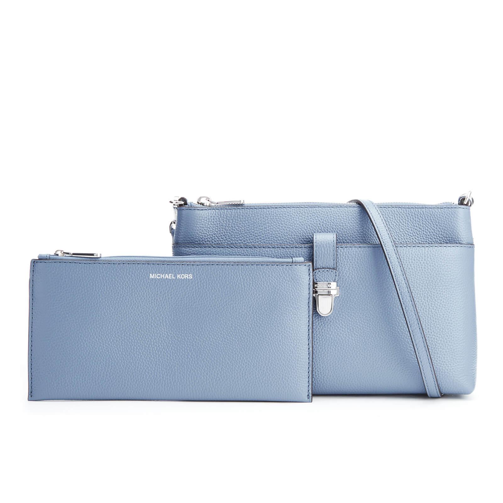 e66c4eaaa00340 MICHAEL MICHAEL KORS Women's Mercer Large Snap Pocket Cross Body Bag -  Denim - Free UK Delivery over £50