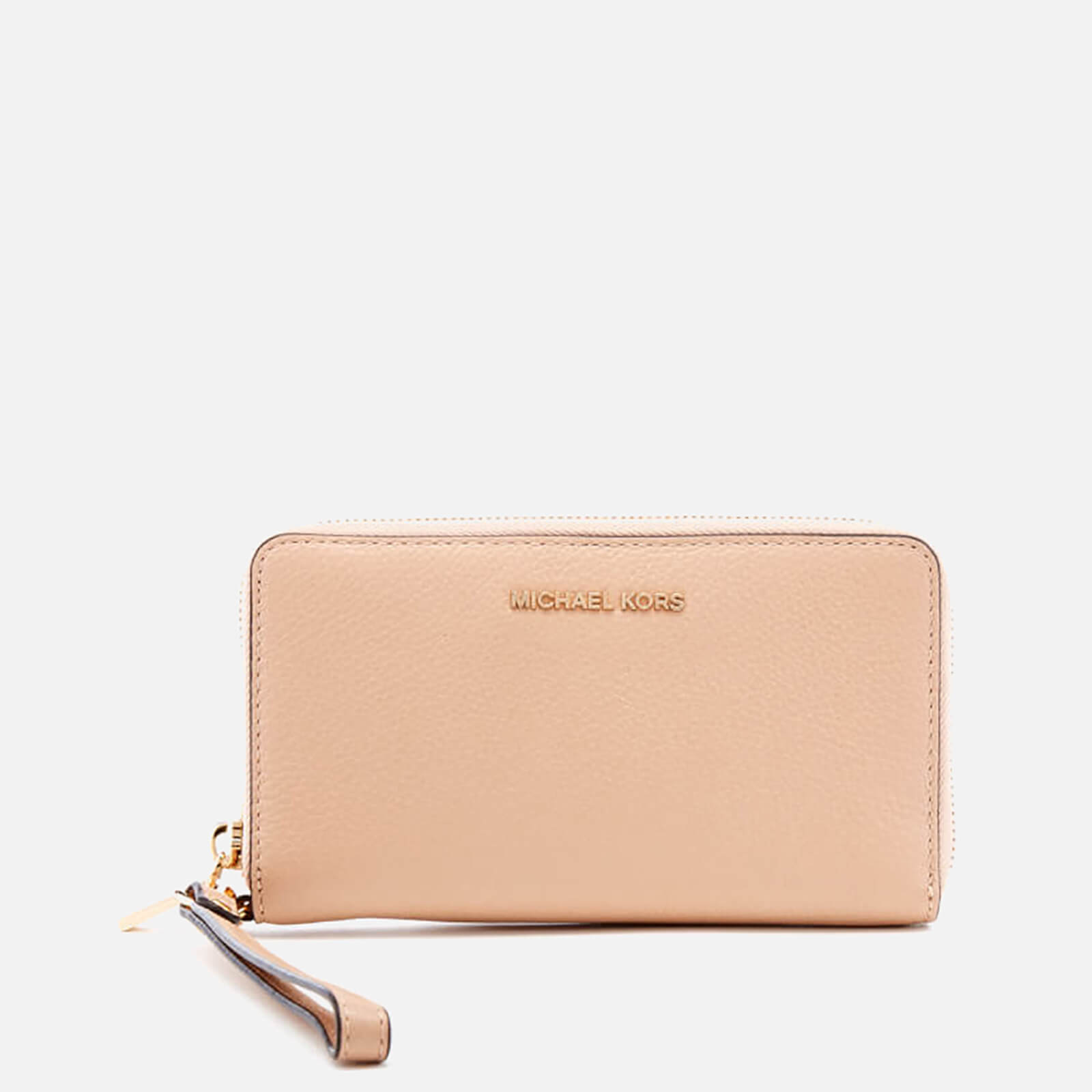 e671d922282a13 MICHAEL MICHAEL KORS Women's Mercer Large Flat Multifunction Phone Purse -  Oyster - Free UK Delivery over £50