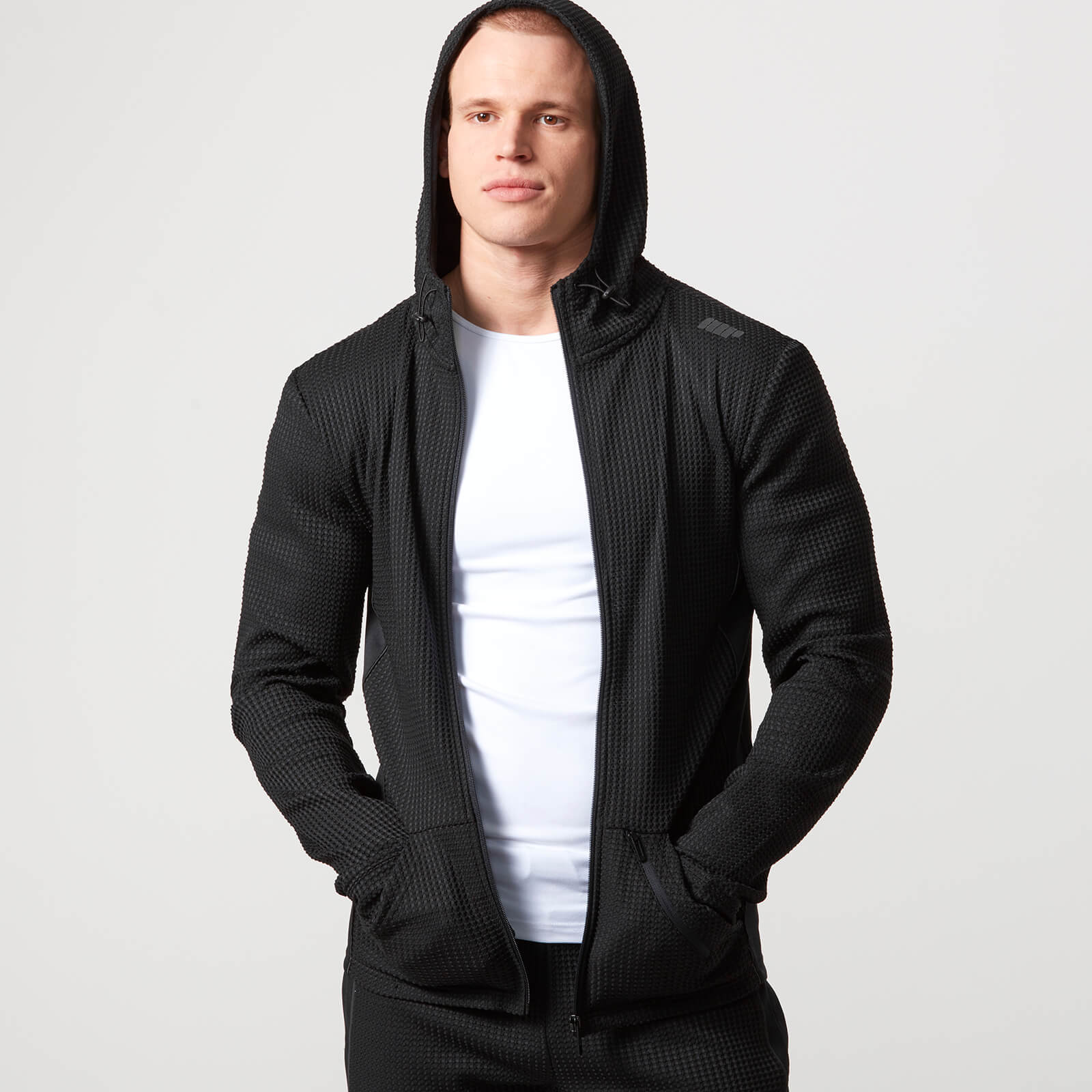 Reflect Zip-Up Hoodie - Black - XL