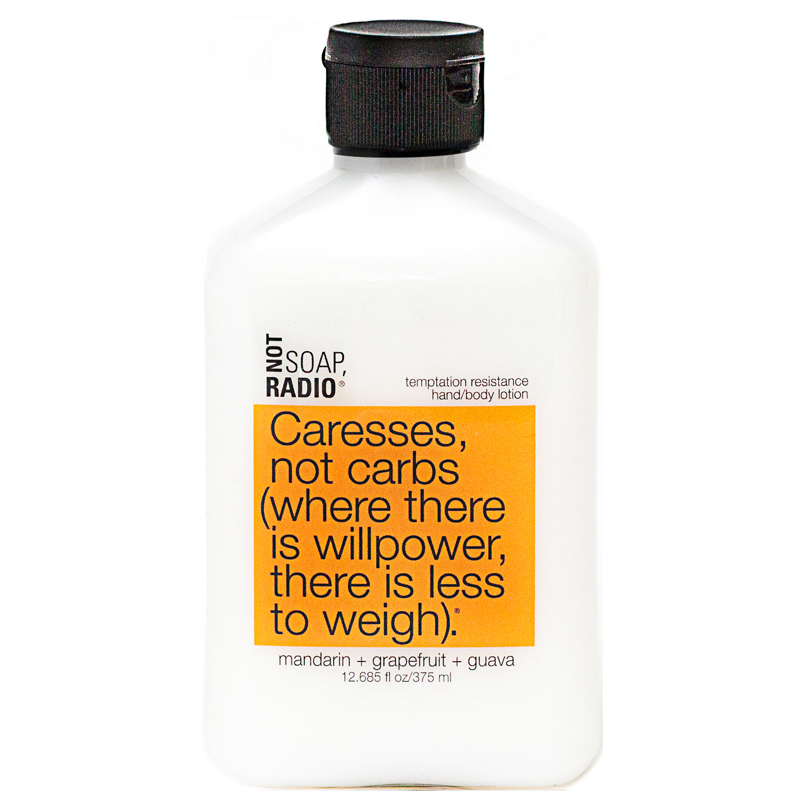 Not Soap Radio Caresses, not carbs (where there is willpower, there is less to weigh) Hand/Body Lotion 375ml