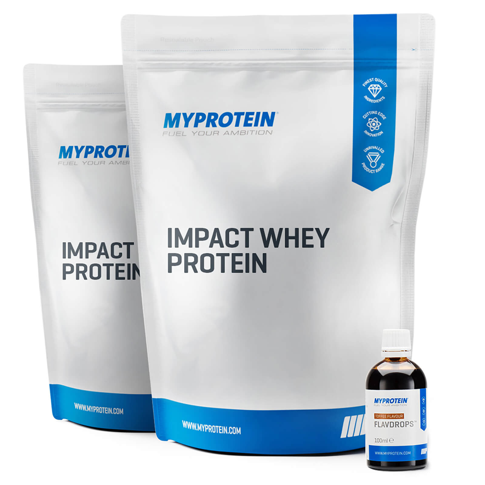 2xImpact Whey Protein + Flavdrops Bundle