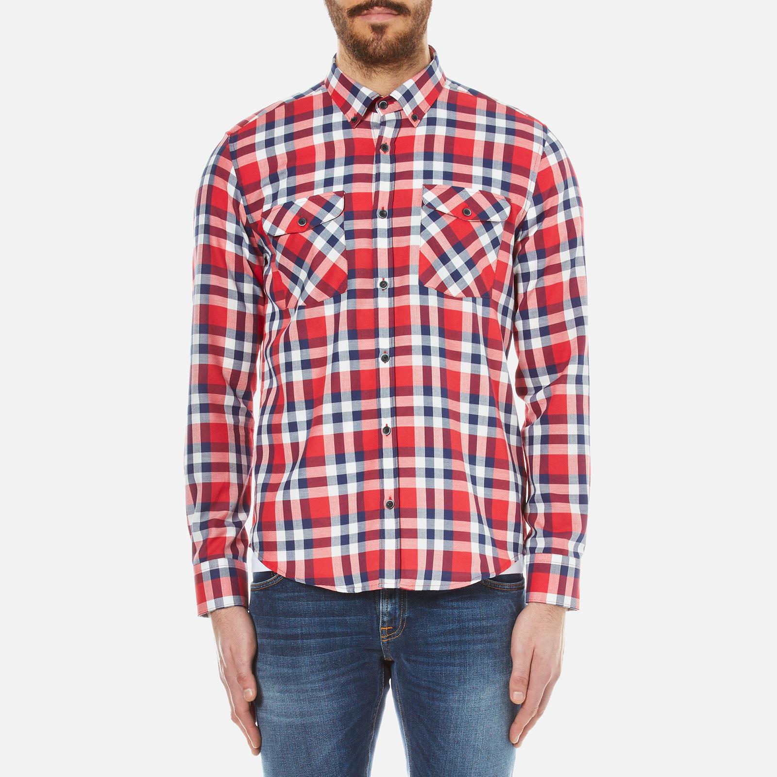 62188198 Barbour X Steve McQueen Men's Rebel Shirt - Red - Free UK Delivery over £50