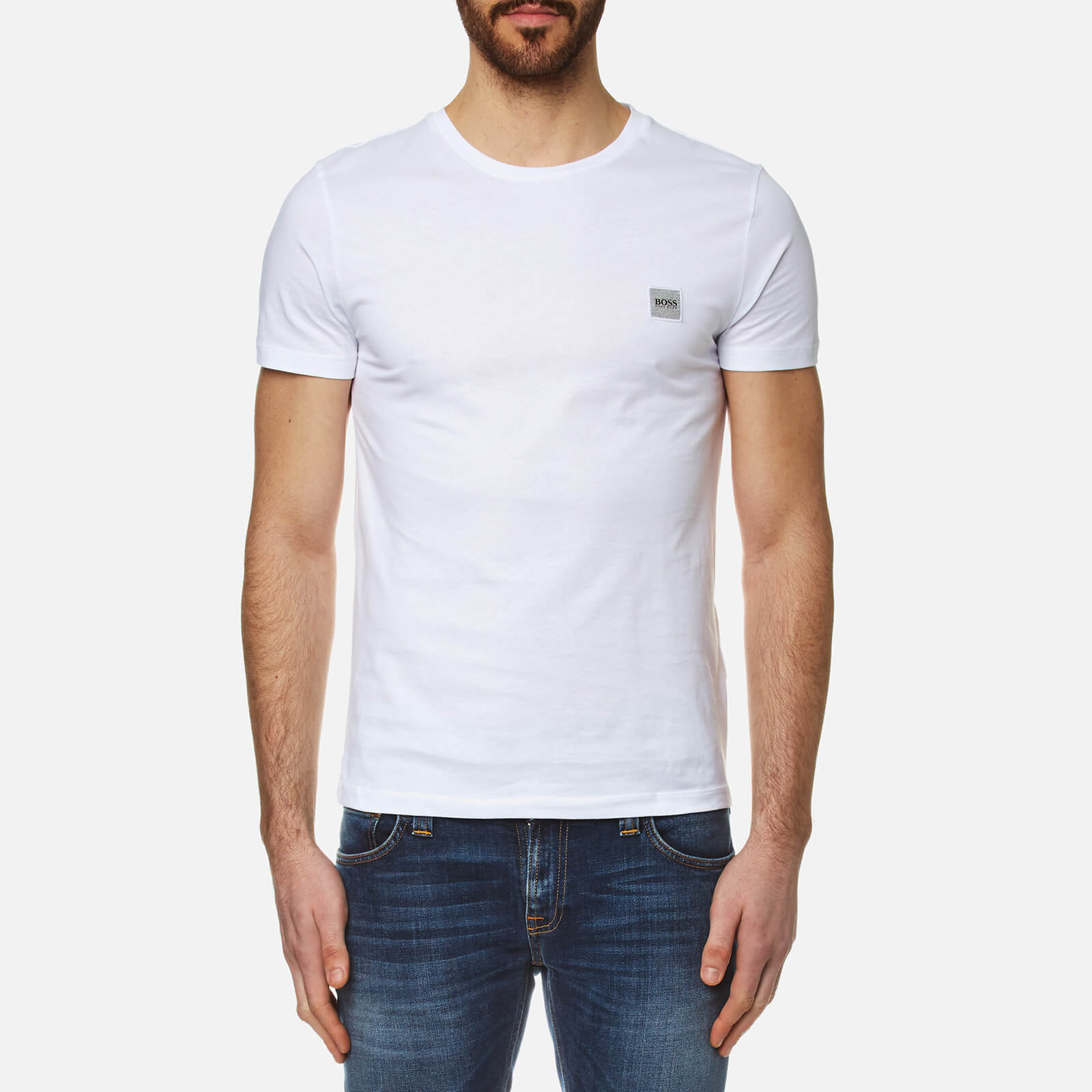 63d10bb57 BOSS Orange Men's Tommi Crew Neck T-Shirt - White - Free UK Delivery over  £50