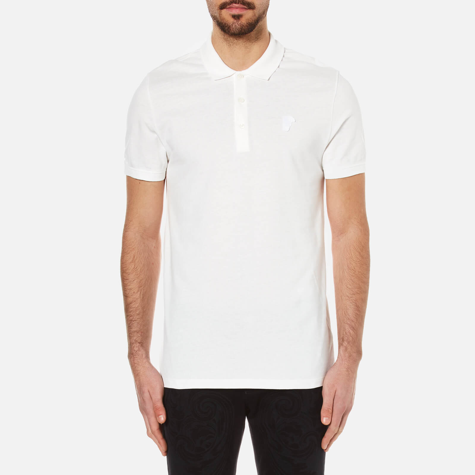 dbd324211a725 Versace Collection Men s Pique Polo Shirt - White - Free UK Delivery over £ 50