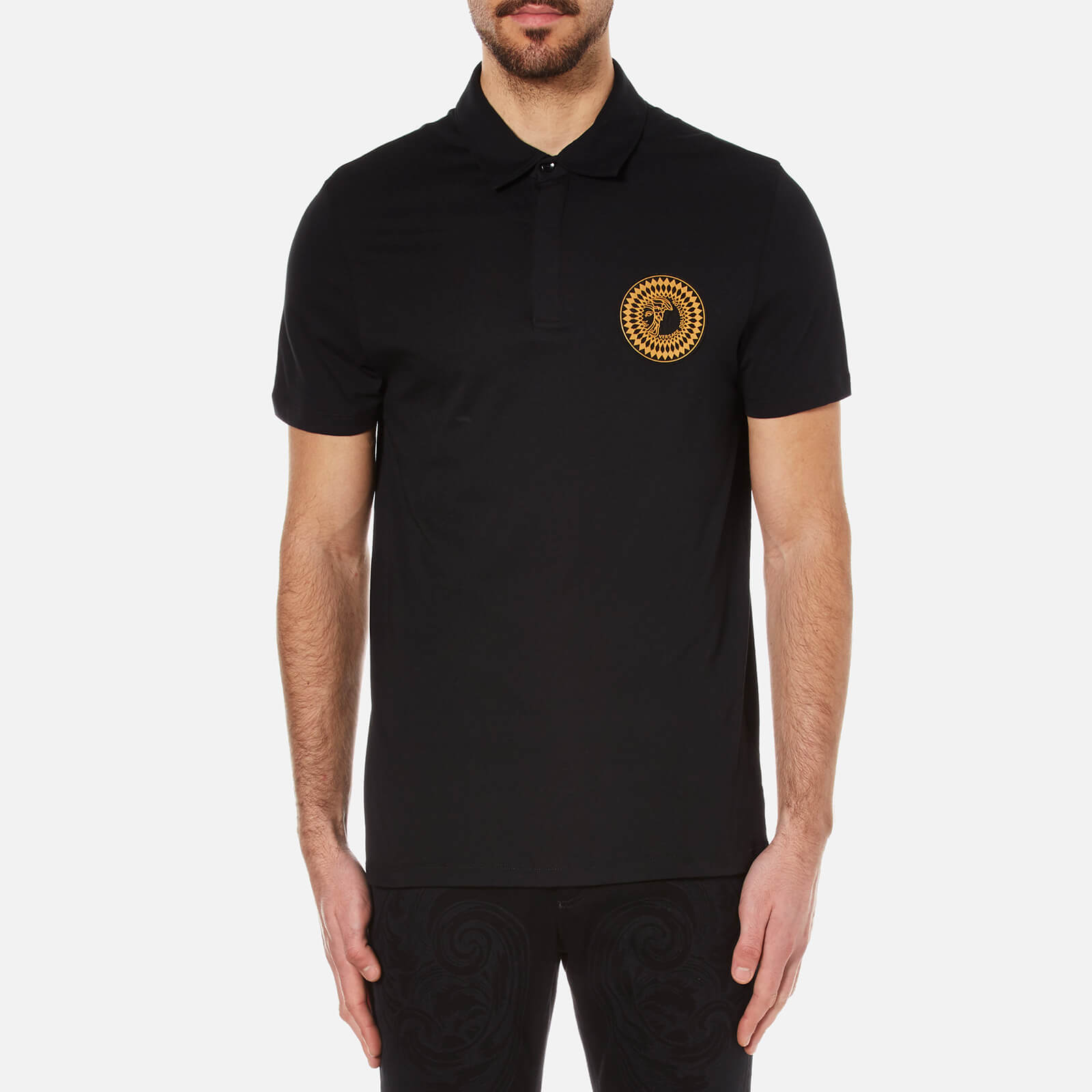 47c66bee Versace Collection Men's Medusa Badge Polo Shirt - Black - Free UK Delivery  over £50