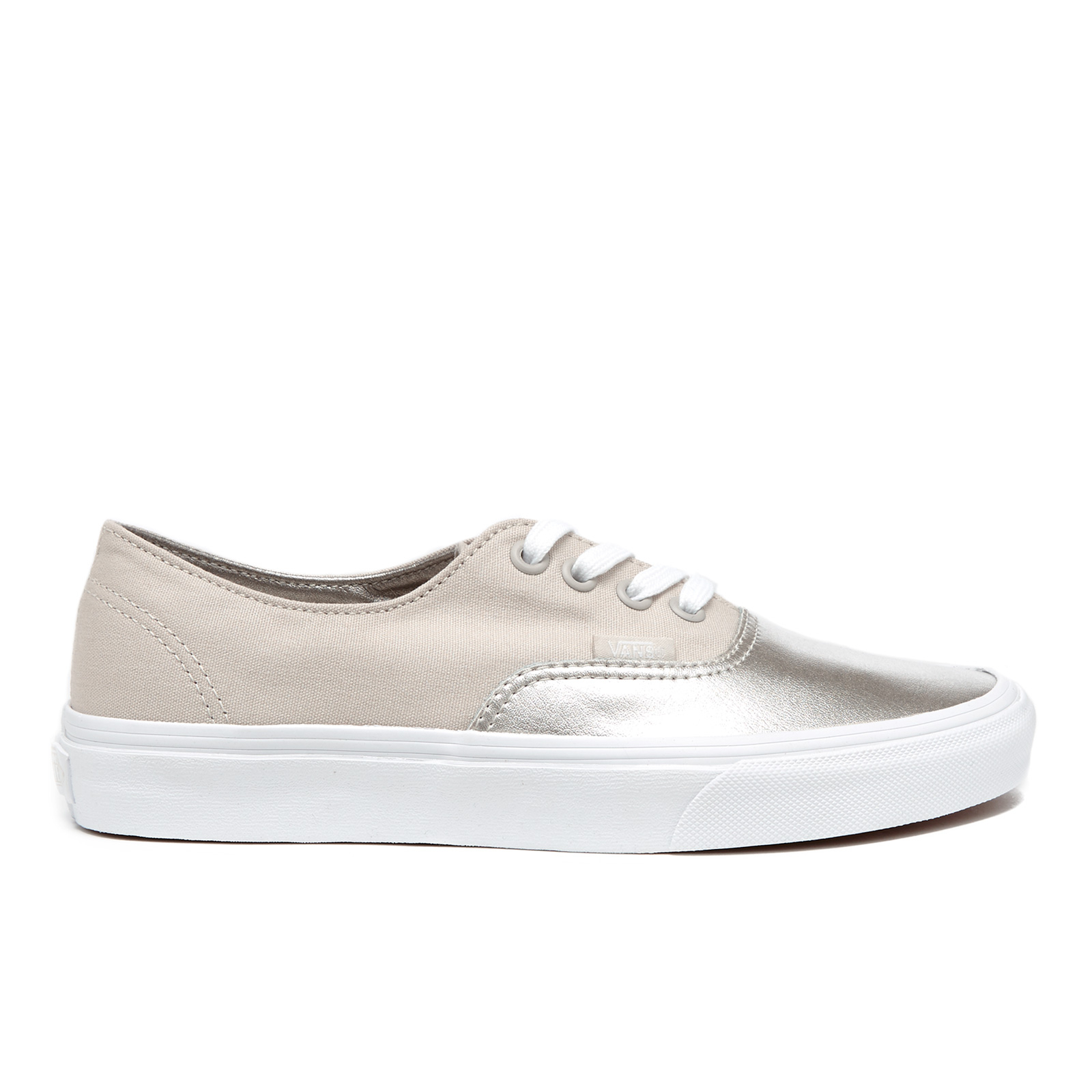 13a3b76d9c Vans Women s Authentic Decon Metallic Canvas Trainers - Silver - Free UK  Delivery over £50