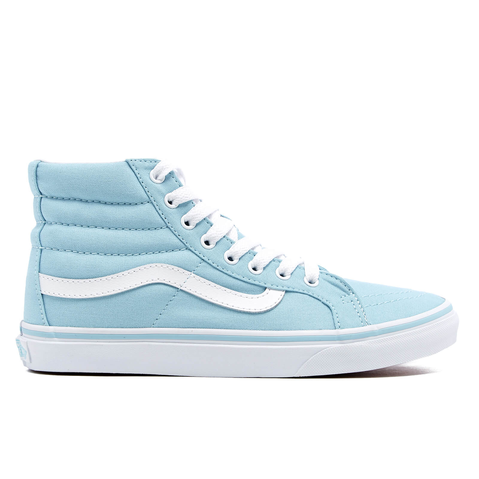 c9bb1d5a13 Vans Women s Sk8-Hi Slim Hi-Top Trainers - Crystal Blue True White - Free  UK Delivery over £50