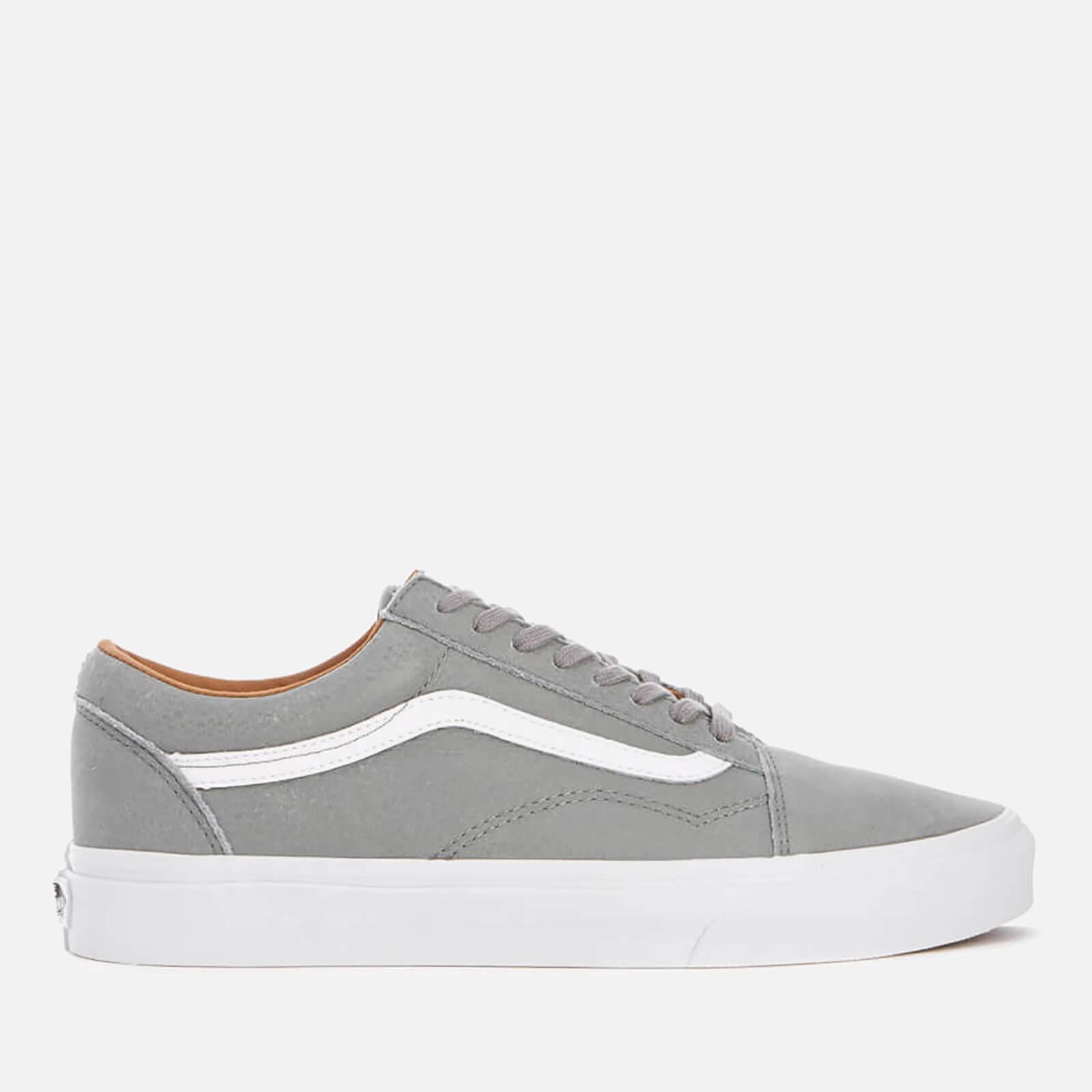 85fb6968ee8c Vans Men s Old Skool Premium Leather Trainers - Wild Dove True White Mens  Footwear