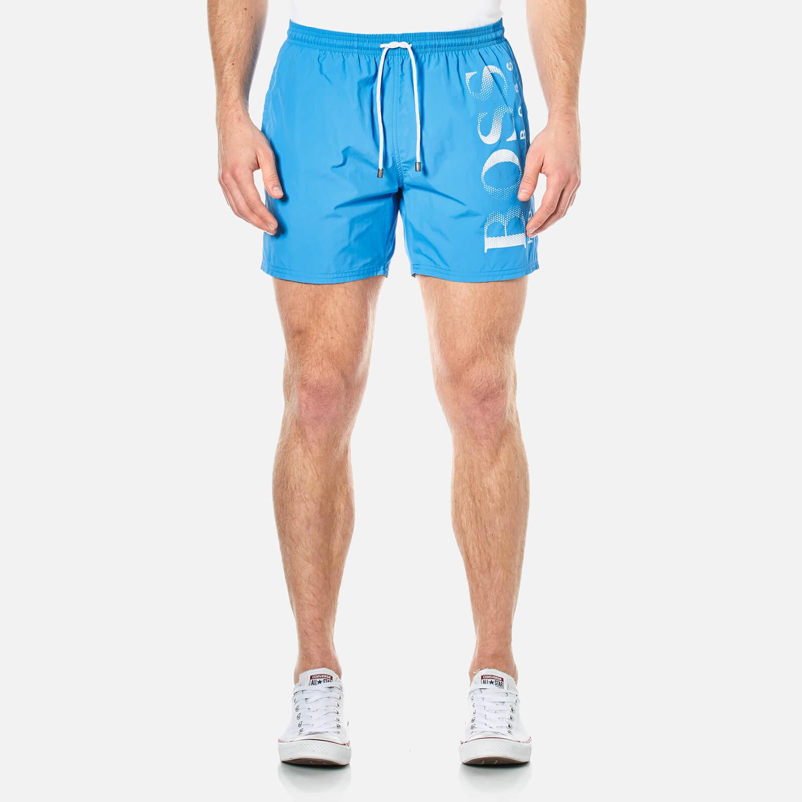 e7ec6d66ab BOSS Hugo Boss Men's Octopus Swim Shorts - Blue Mens Underwear   TheHut.com
