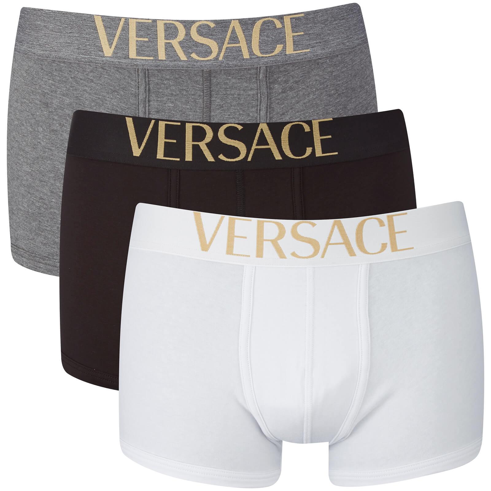 dacdf2cd88 Versus Versace Men's Low Rise Trunks - Nero-Grigio-Bianco - Free UK  Delivery over £50