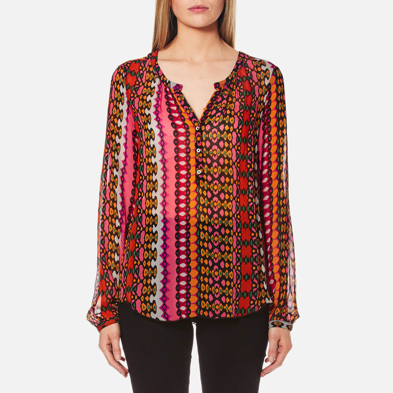 742877faa93 Maison Scotch Women's Sheer Tunic Top - Multi - Free UK Delivery over £50